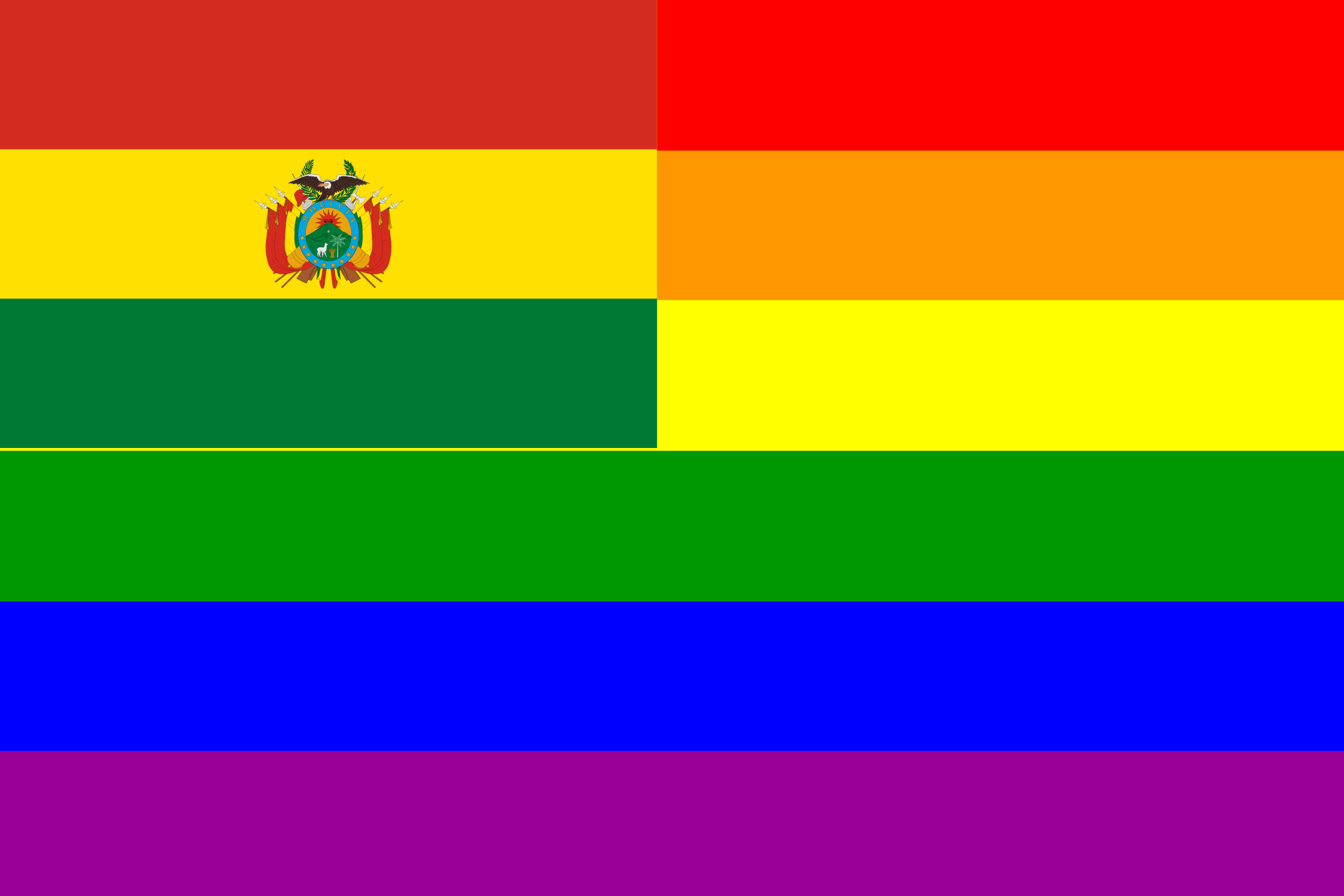 The Bolivia Rainbow Flag by AdamStanislav