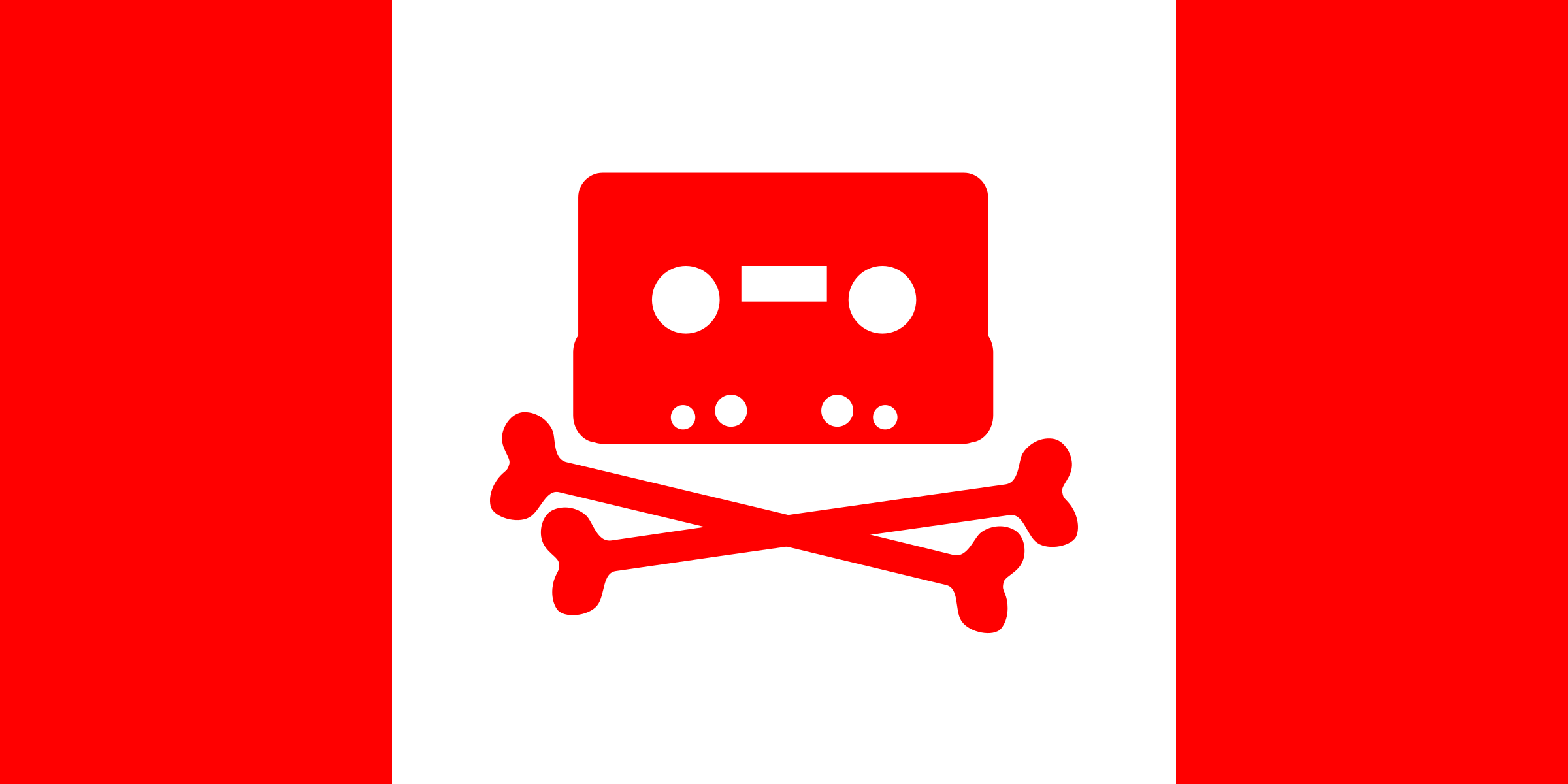 Canadian Music Pirate Flag by dandin1
