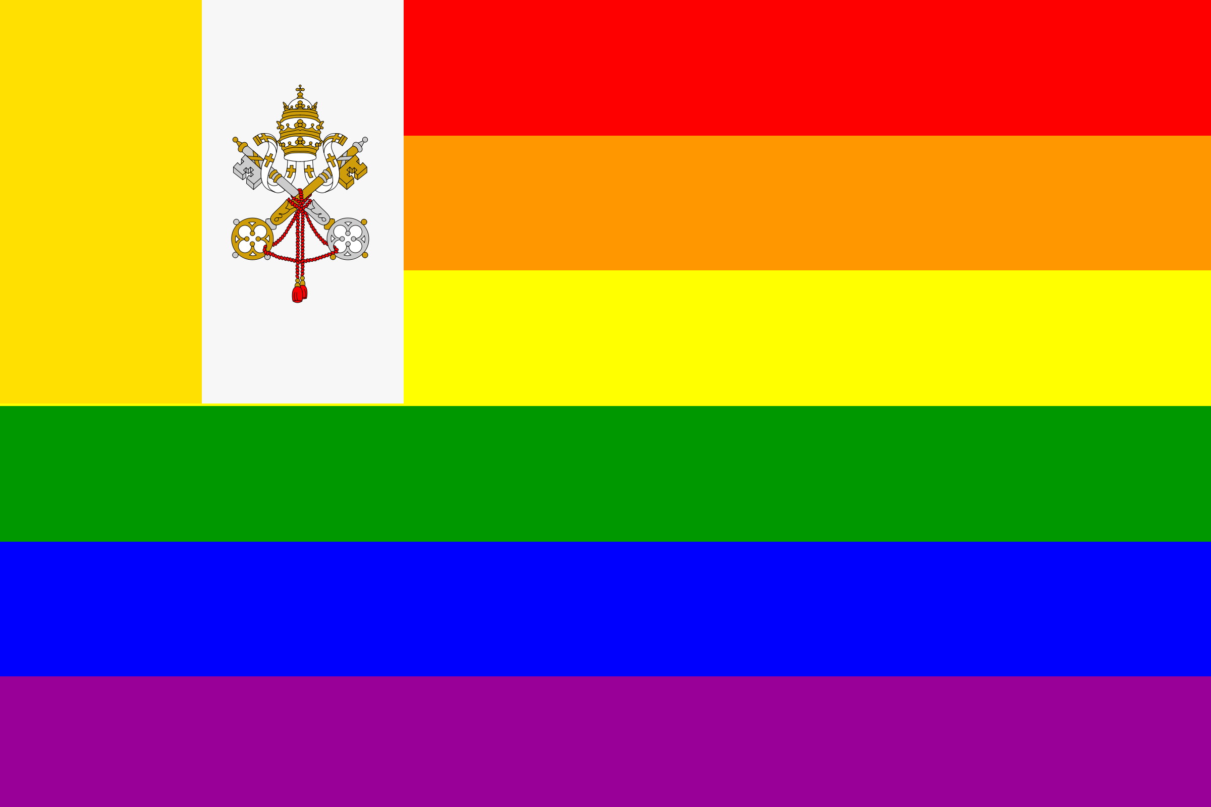 The Vatican City Rainbow Flag by AdamStanislav