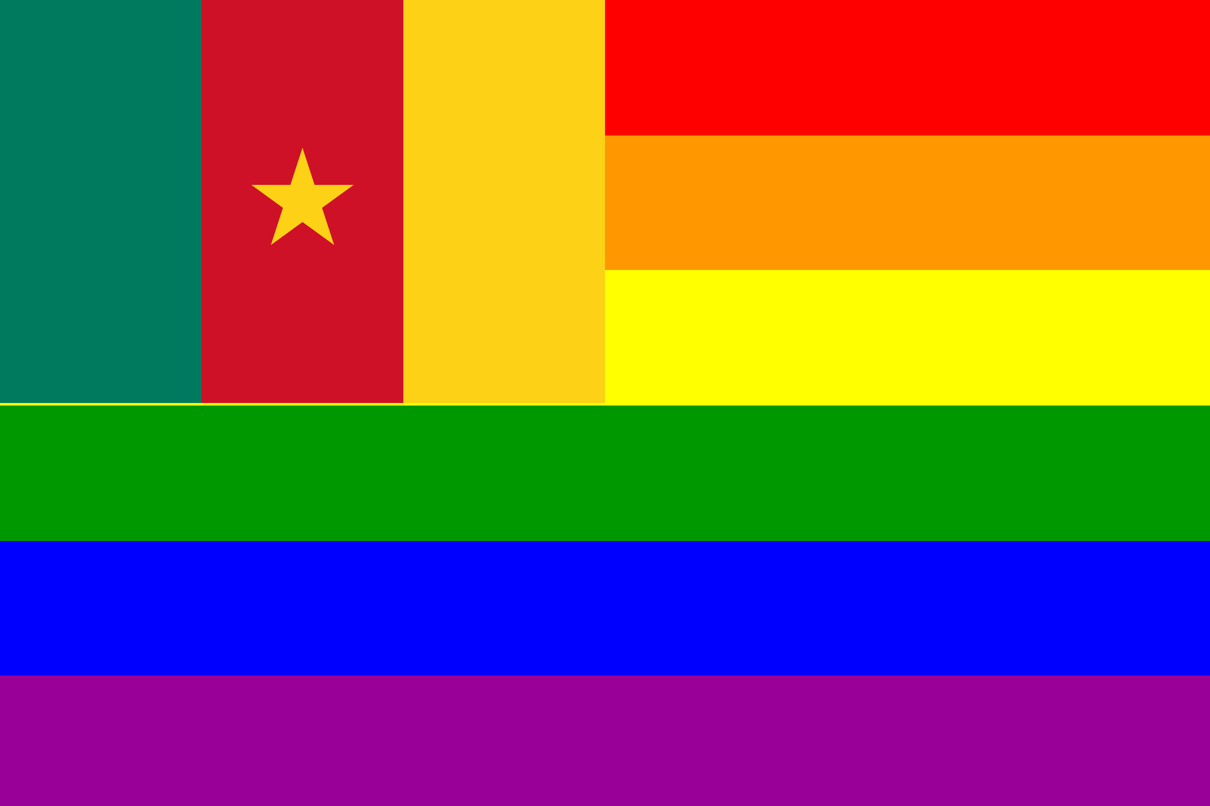 The Cameroon Rainbow Flag by AdamStanislav