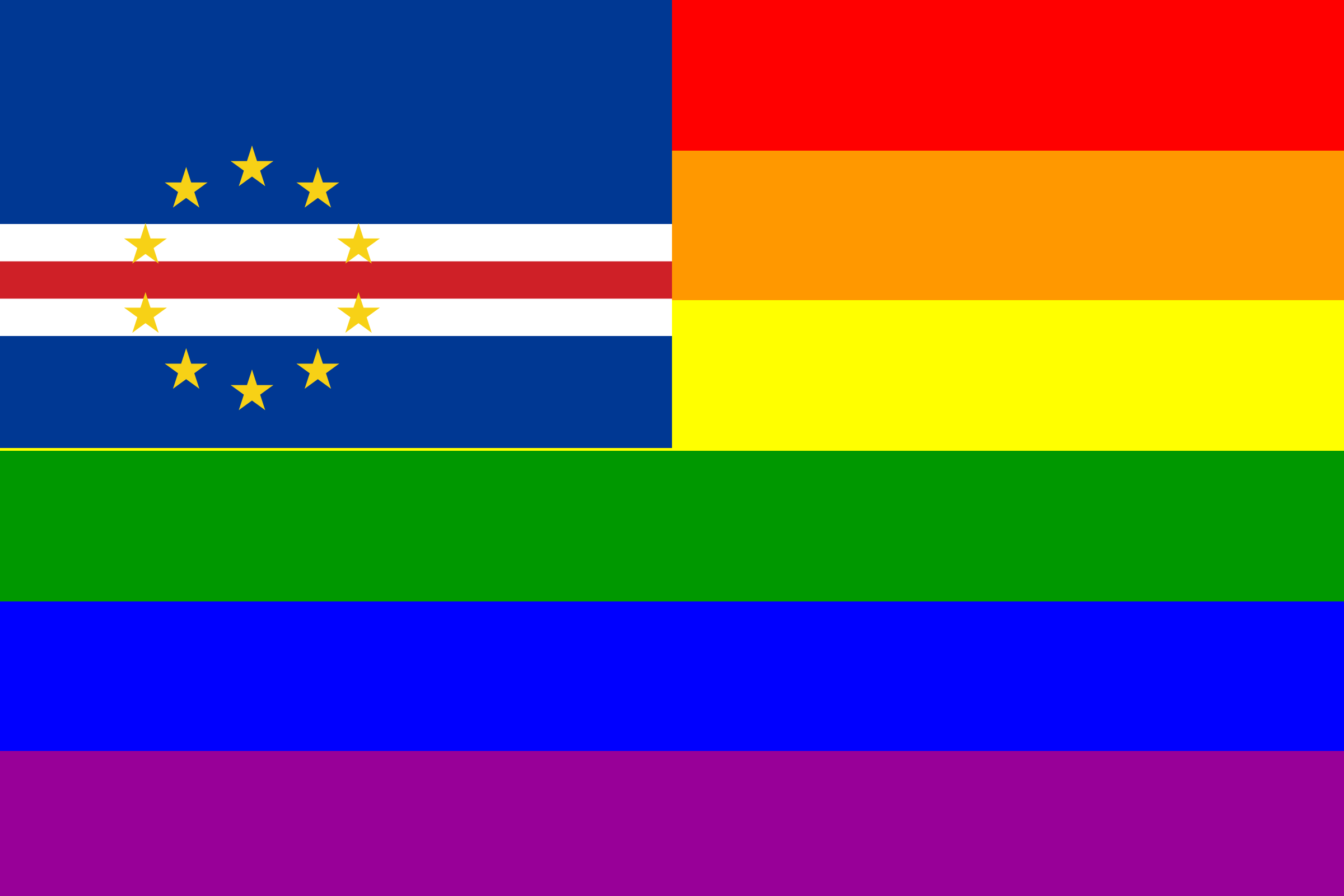The Cape Verde Rainbow Flag by AdamStanislav