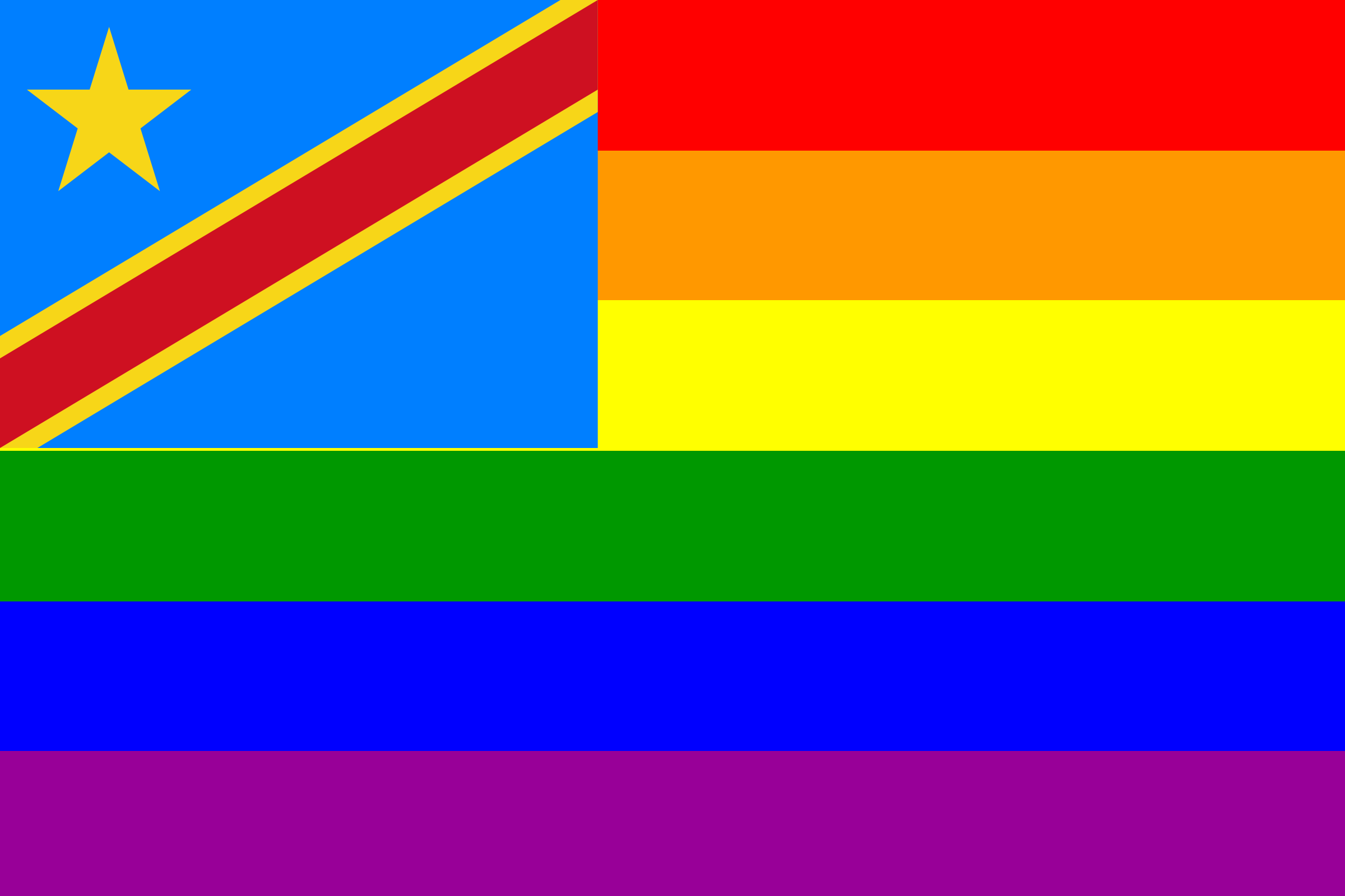 The Democratic Republic of the Congo Rainbow Flag by AdamStanislav