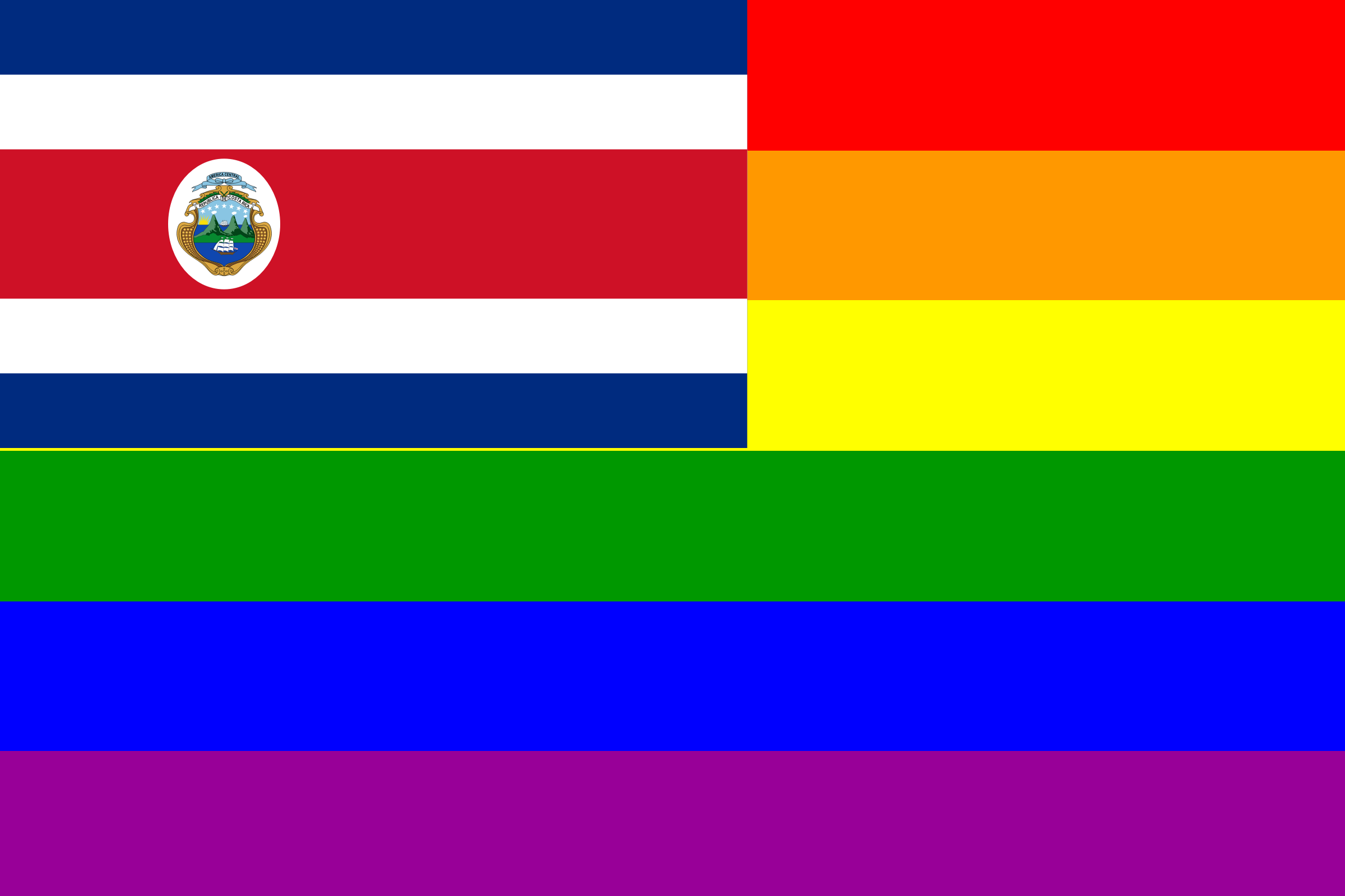 The Costa Rica Rainbow Flag by AdamStanislav