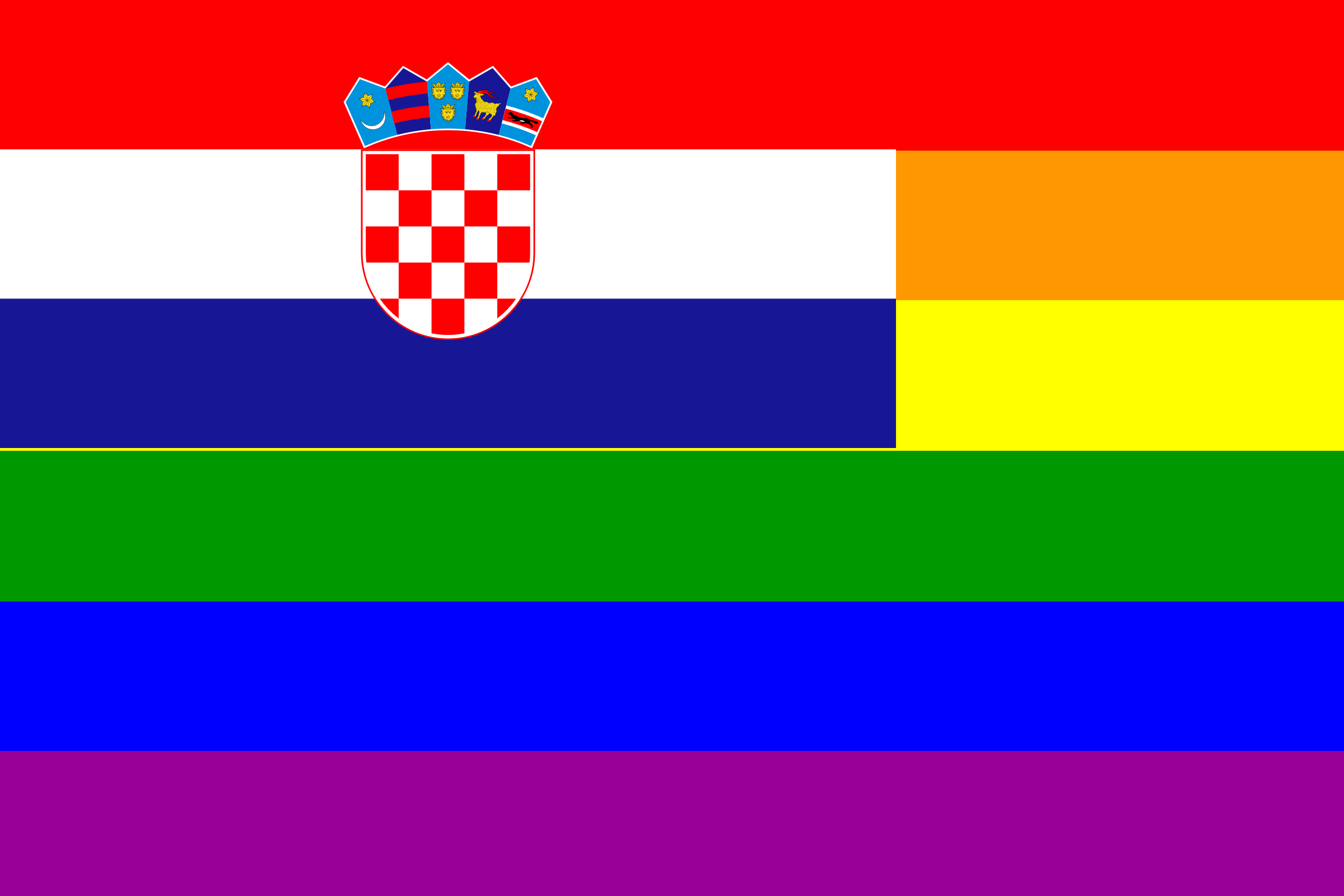 The Croatia Rainbow Flag by AdamStanislav