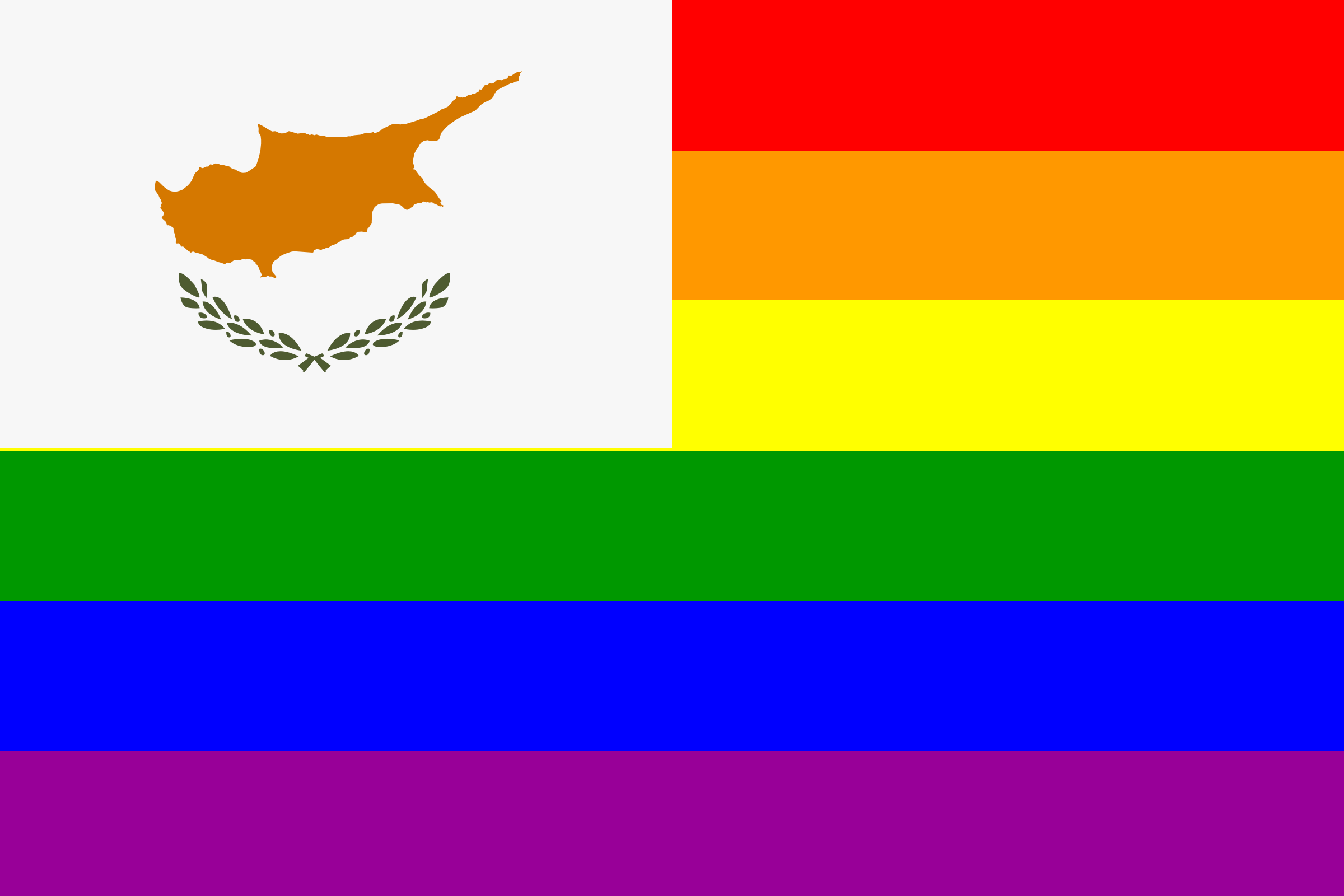 The Cyprus Rainbow Flag by AdamStanislav