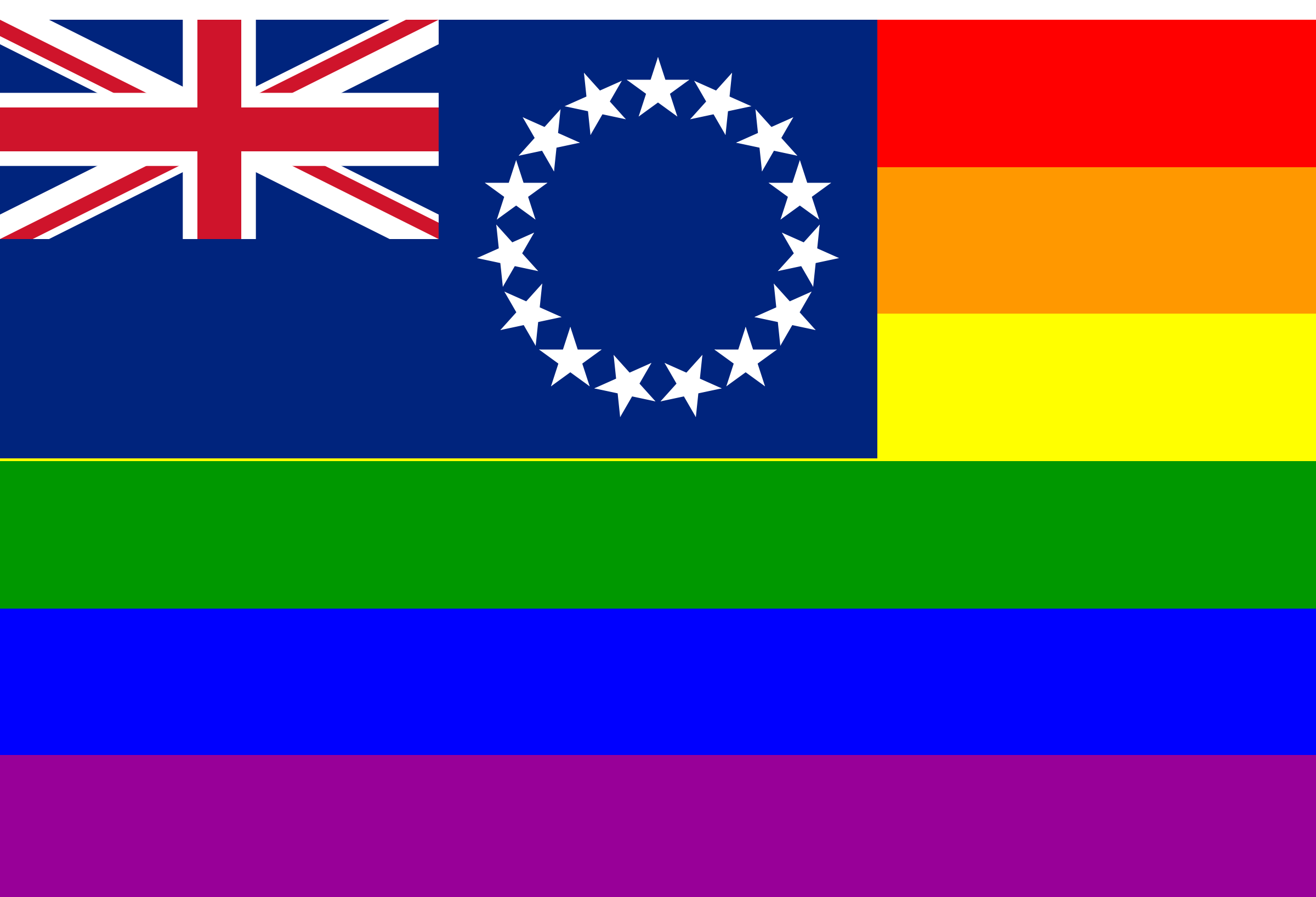 The Cook Islands Rainbow Flag by AdamStanislav