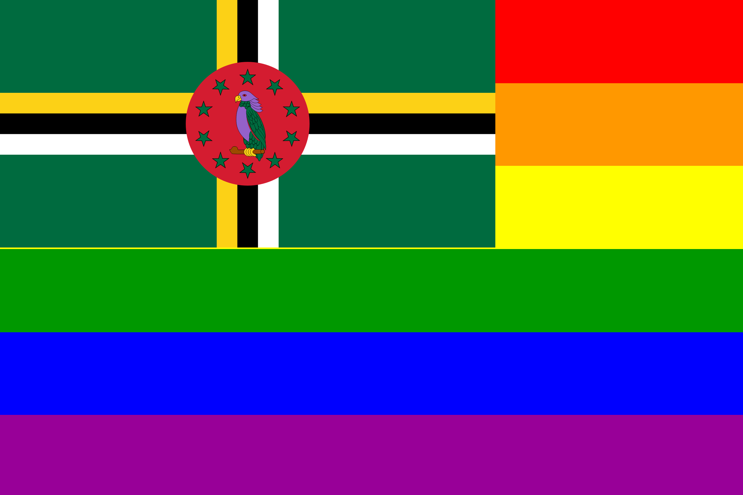 The Dominica Rainbow Flag by AdamStanislav