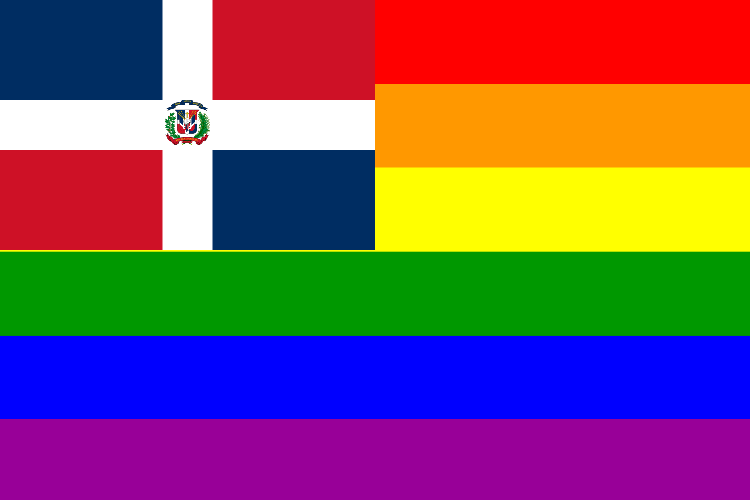 The Dominican Republic Rainbow Flag by AdamStanislav