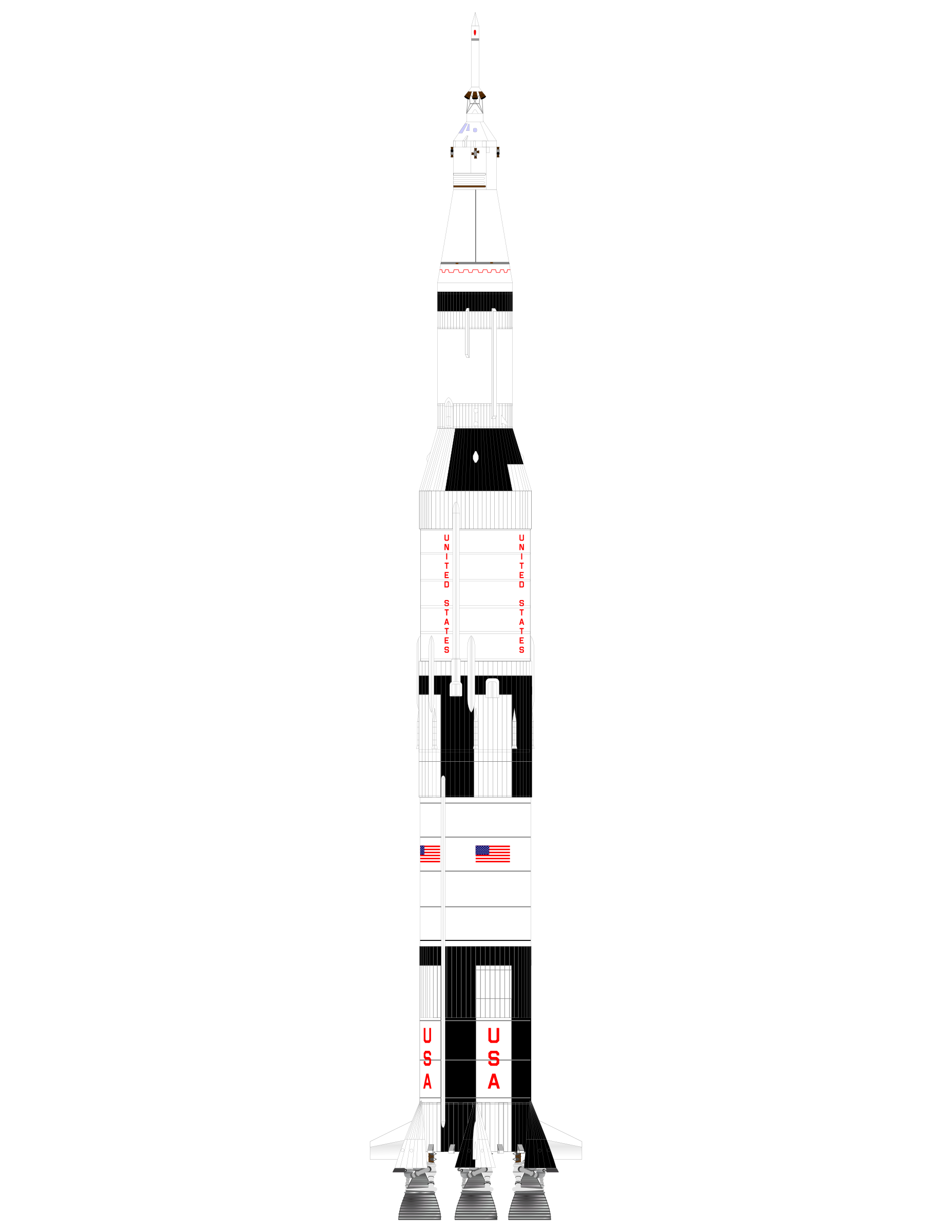 ROCKET SATURN V by charner1963