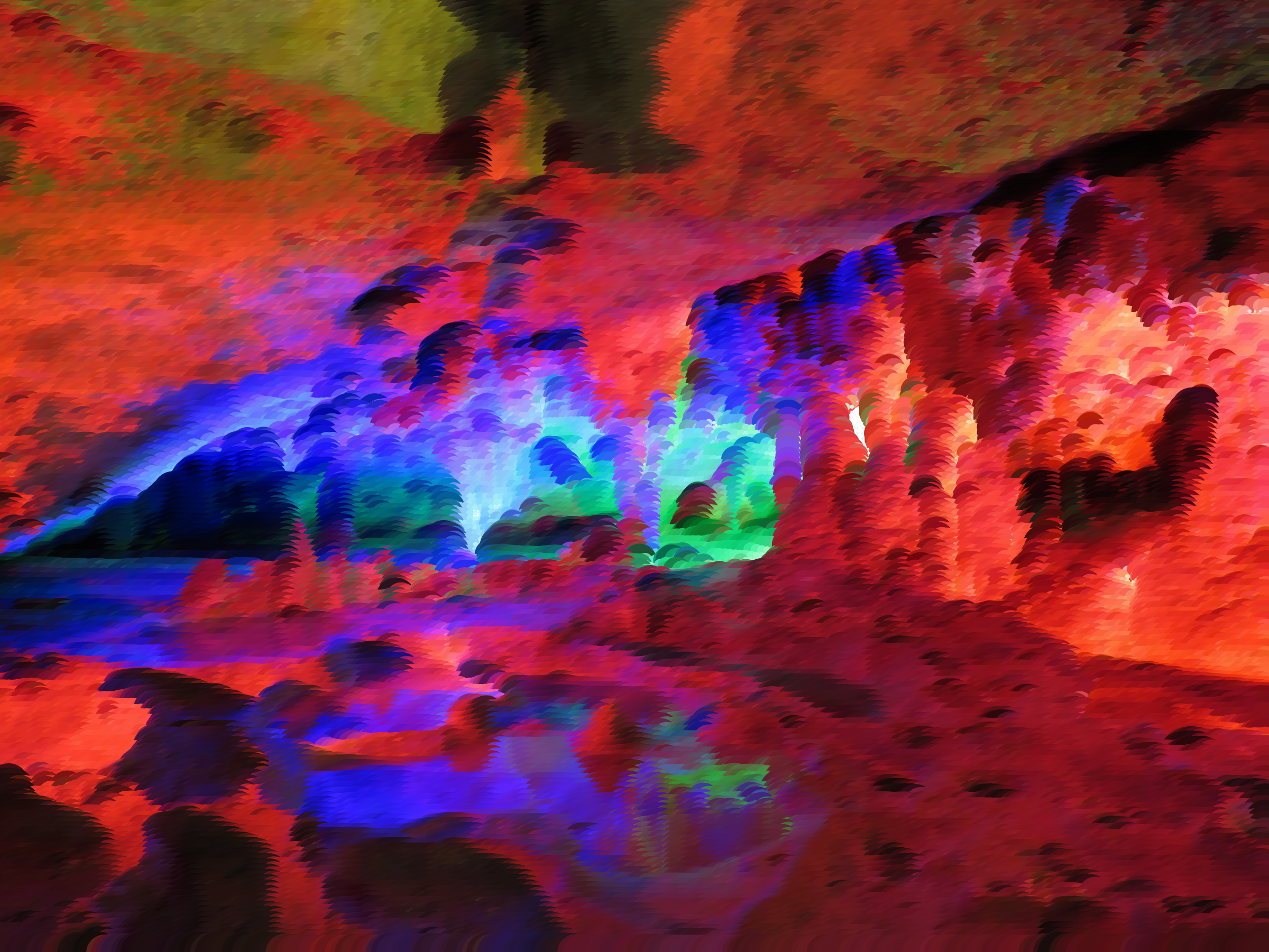Surreal Prismatic Cavern by GDJ