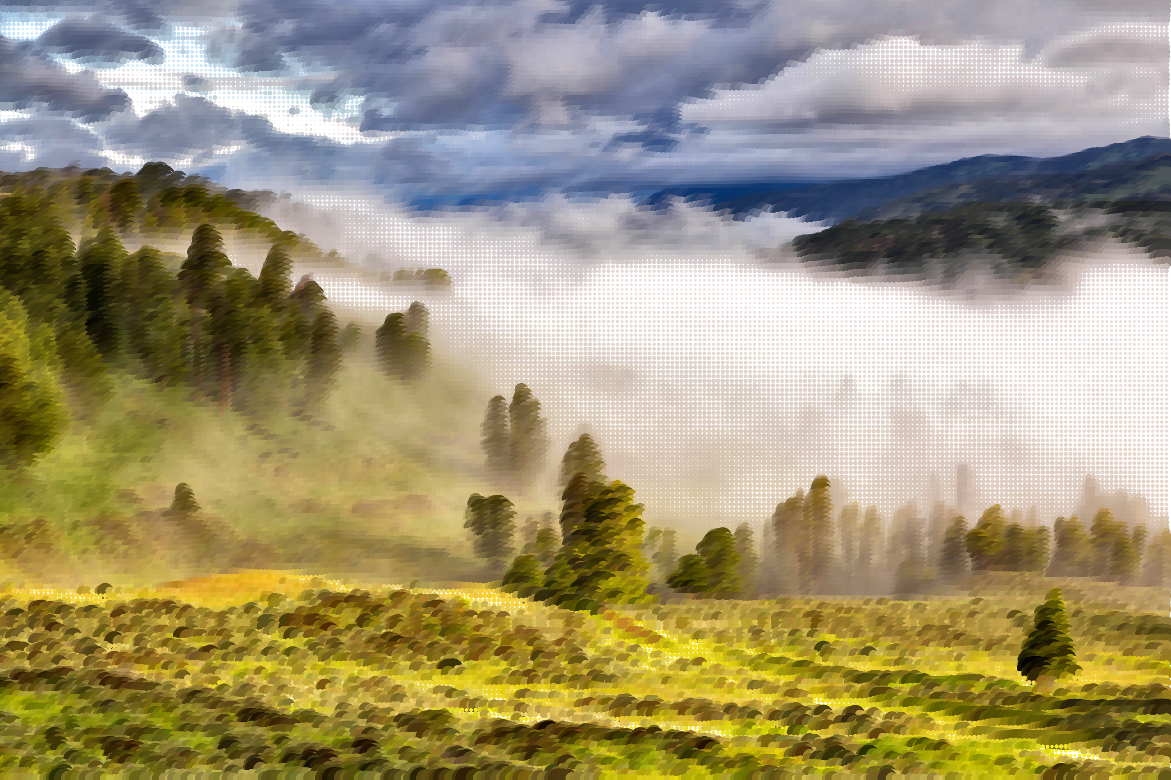 Surreal Misty Valley by GDJ
