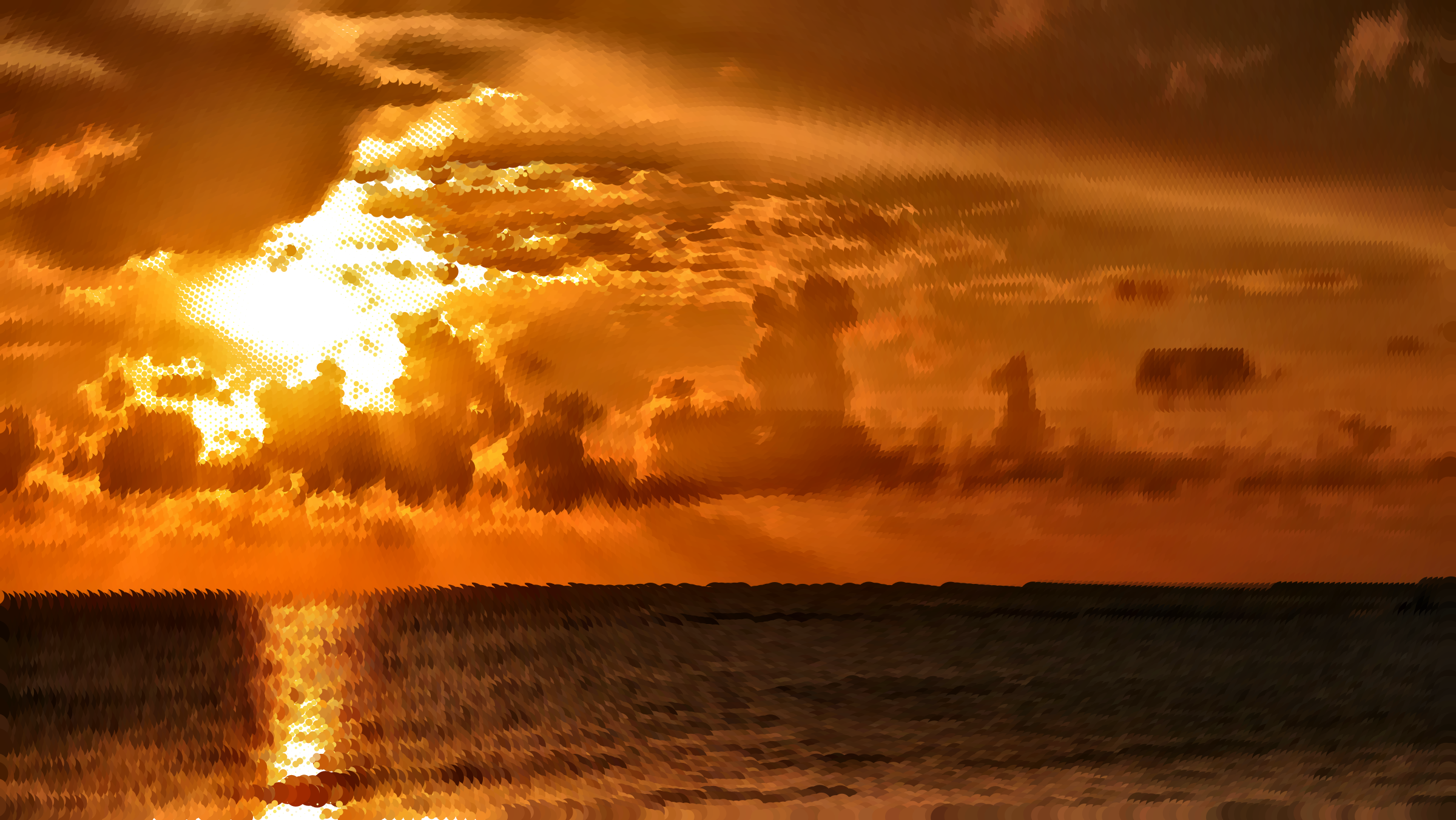 Surreal Golden Sunset by GDJ