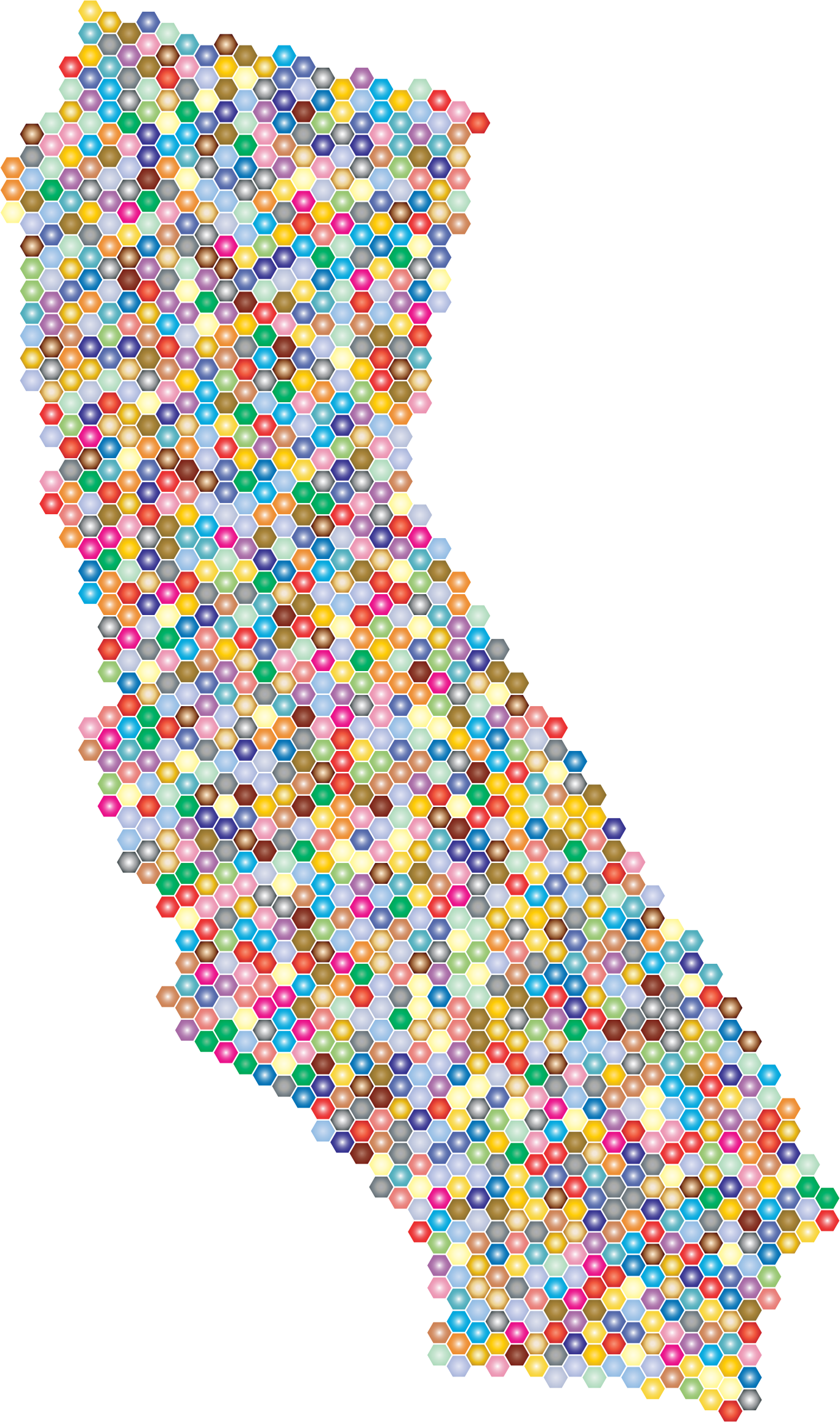 Prismatic California Hexagonal Mosaic 2 by GDJ