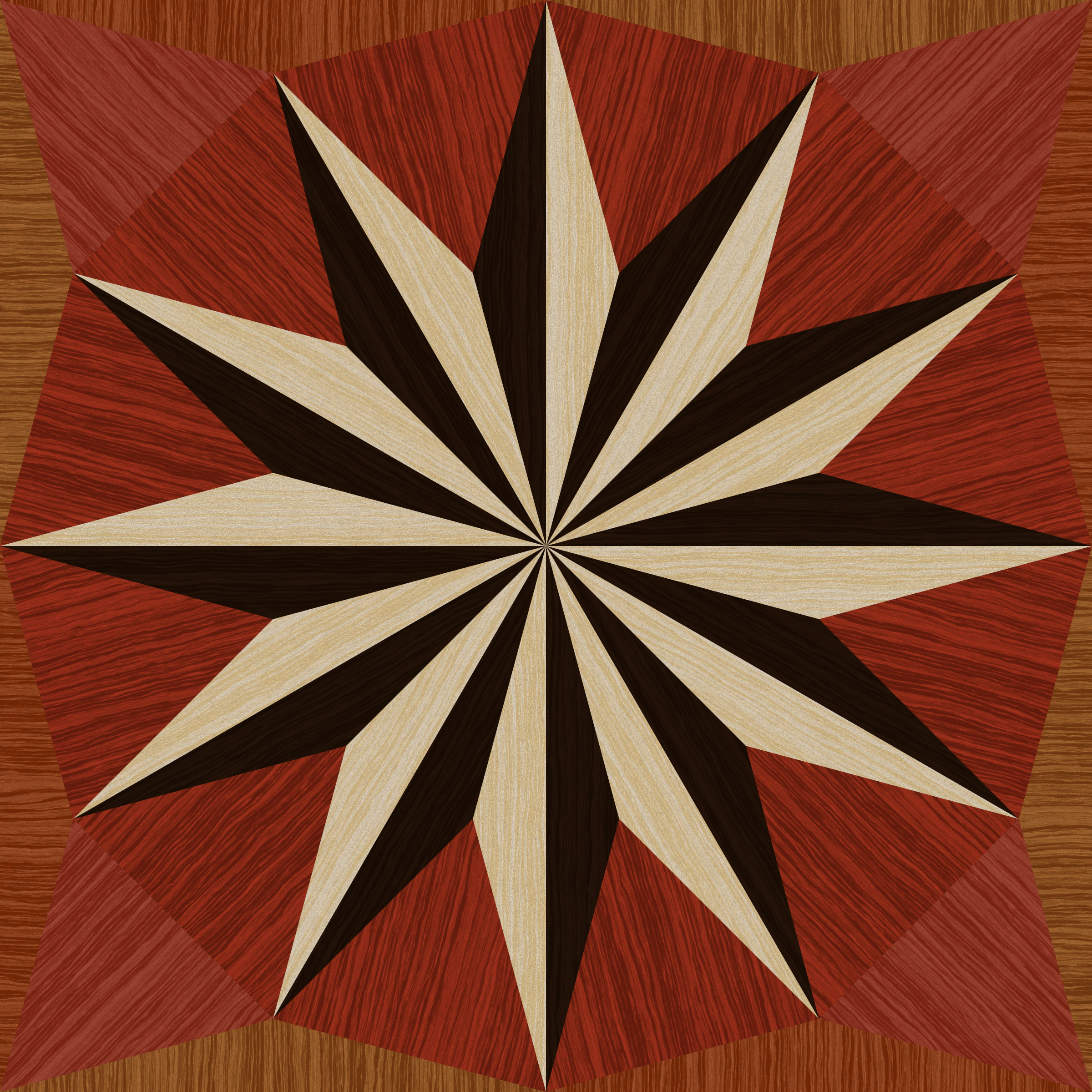 wooden triangle tiling by Lazur URH
