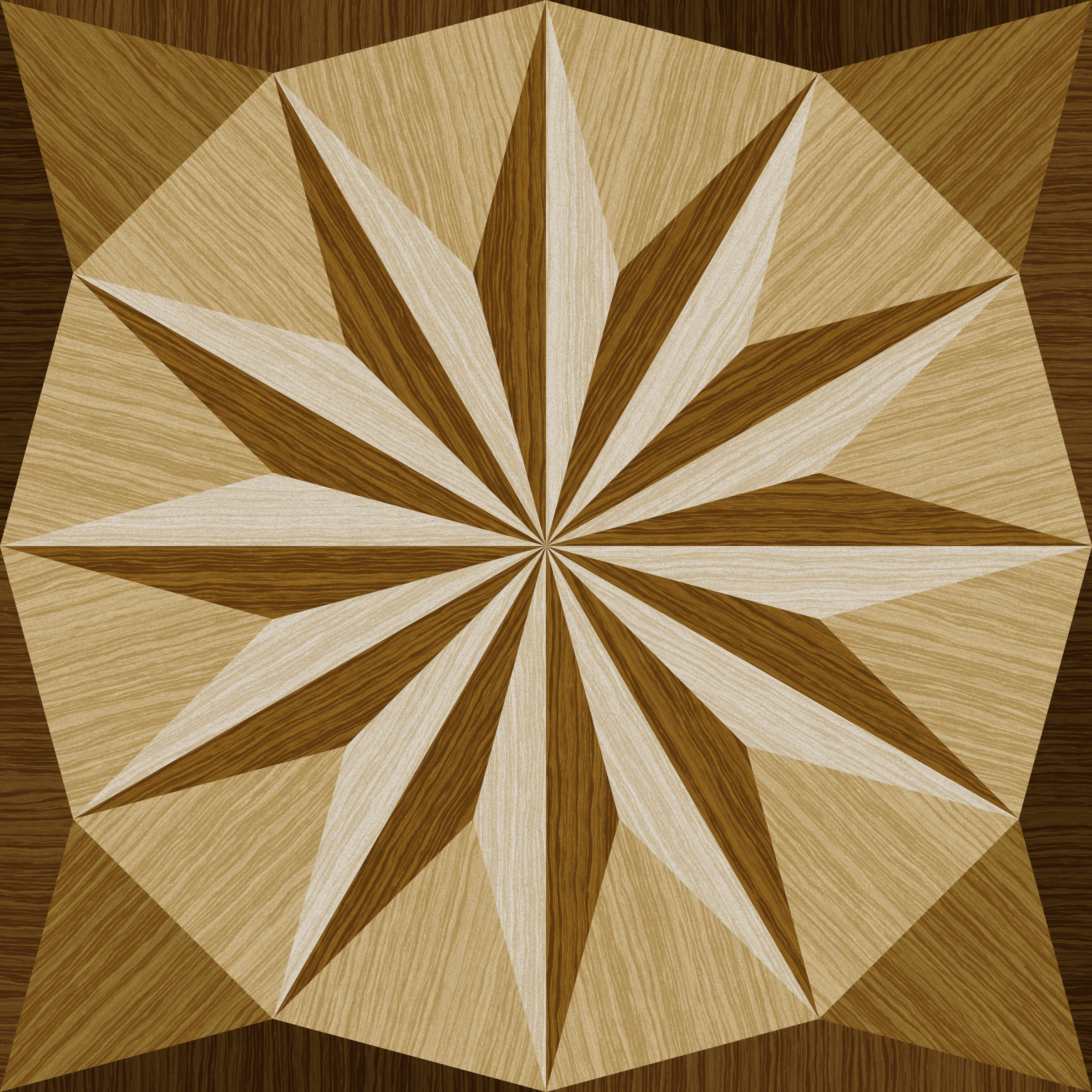 wooden triangle tiling 3 by Lazur URH