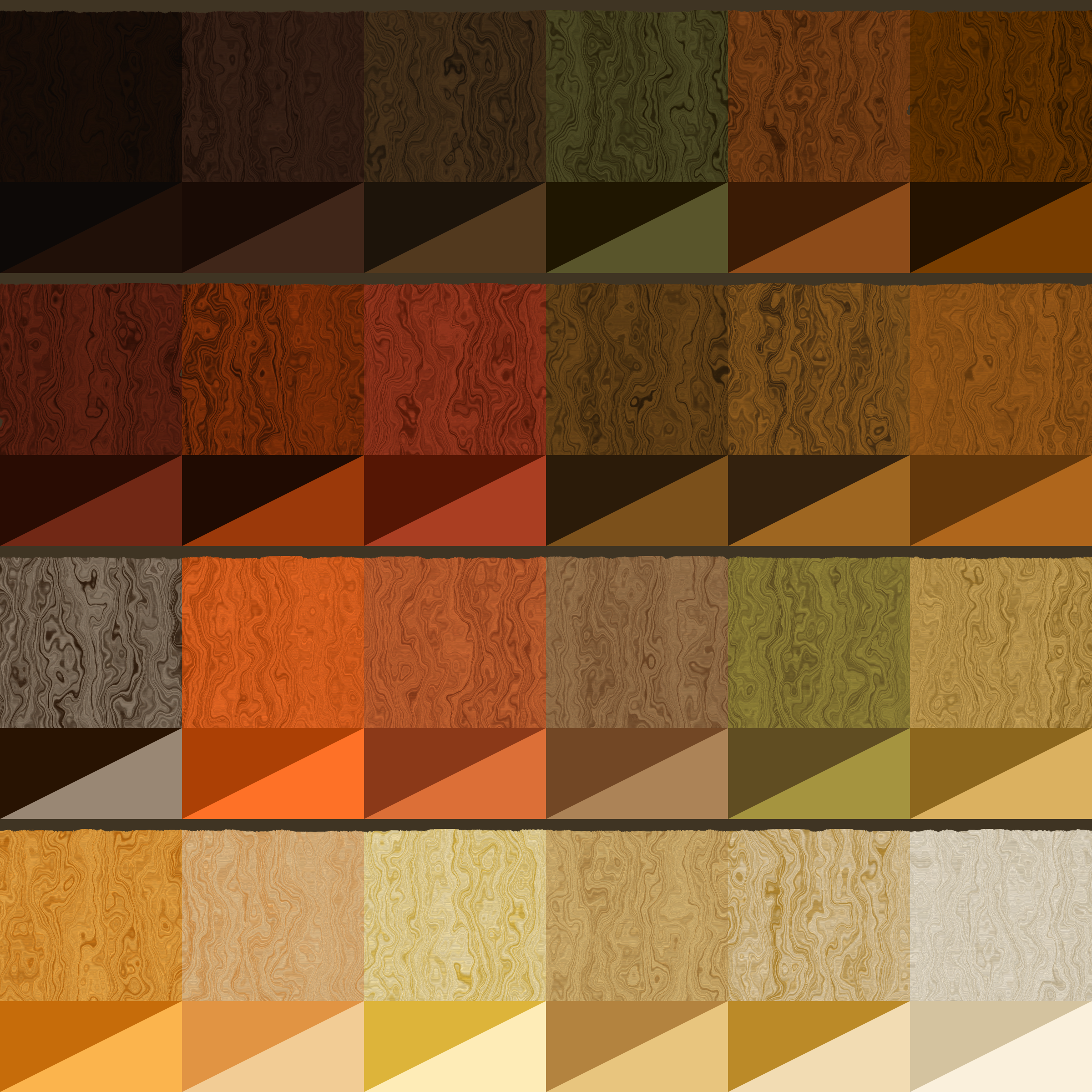 wood grain colour chart by Lazur URH