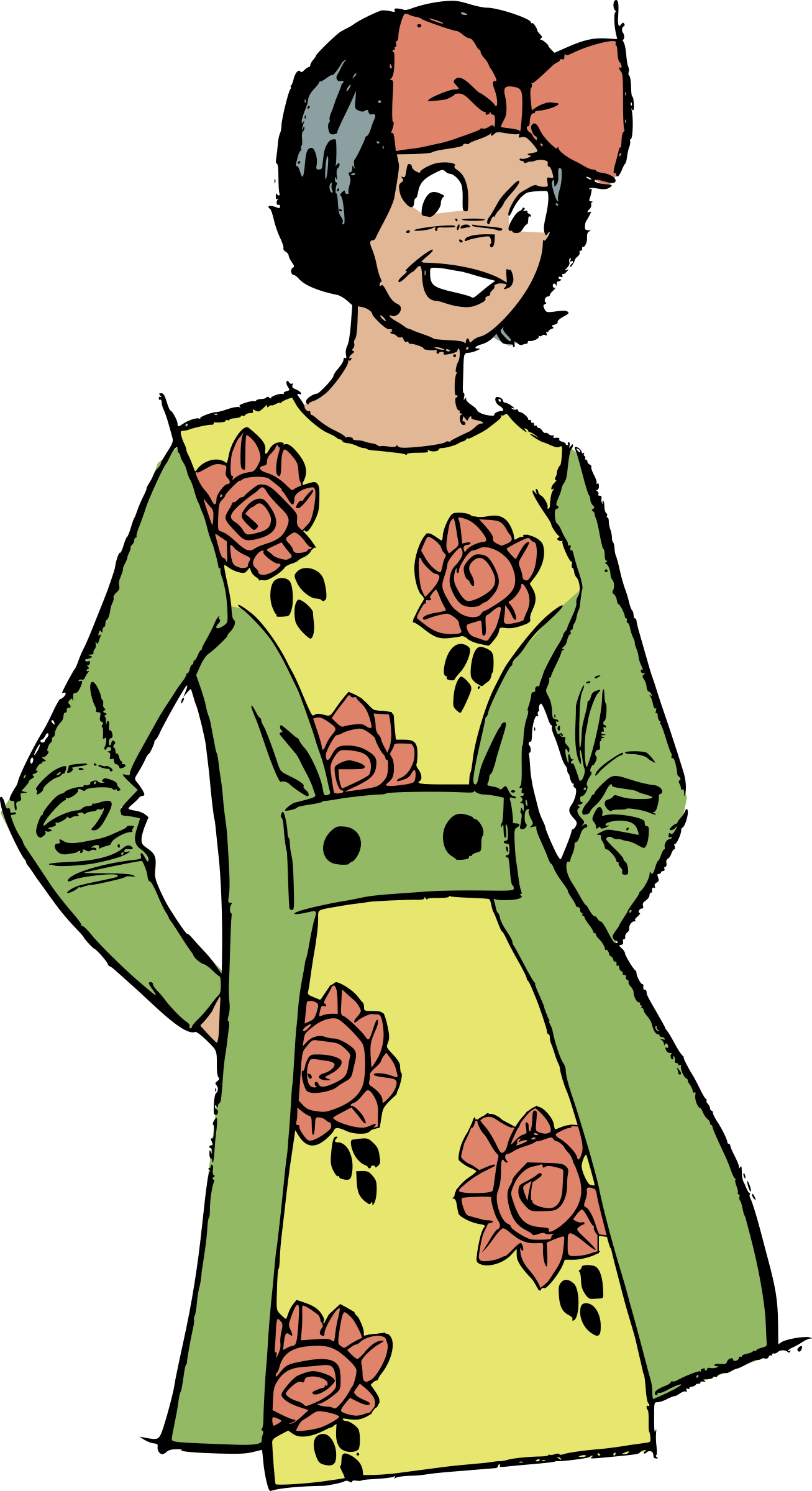 Flower dress by liftarn