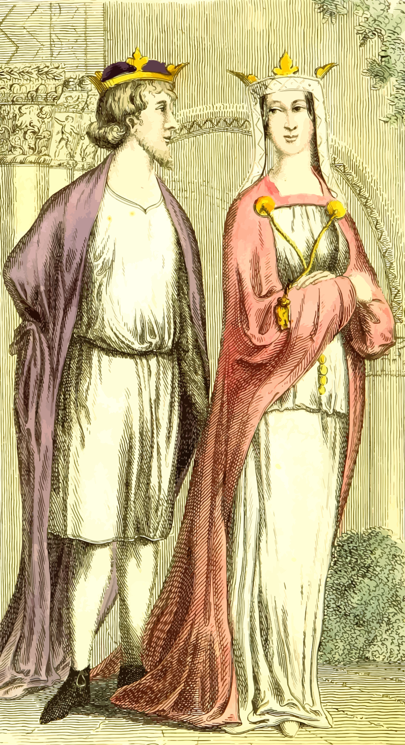 Henry I and Queen Matilda by Firkin