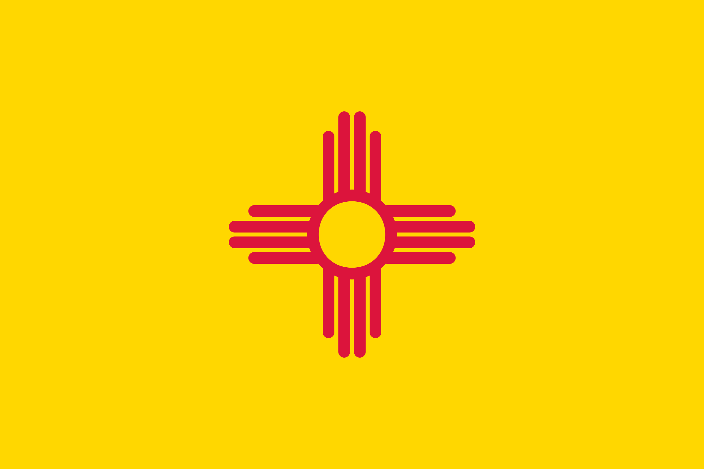 Flag of New Mexico, USA by Anonymous