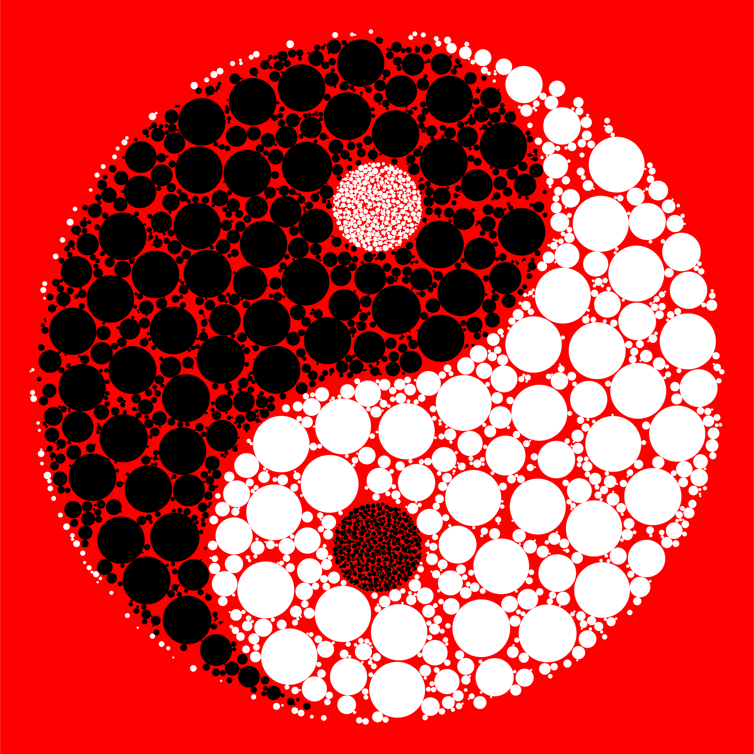 Circles Yin Yang With Background by GDJ