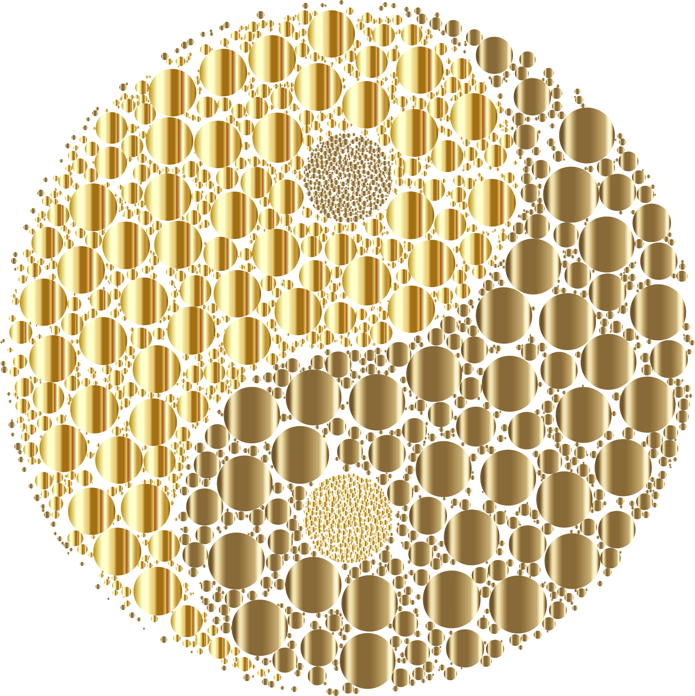 Golden Circles Yin Yang No Background by GDJ