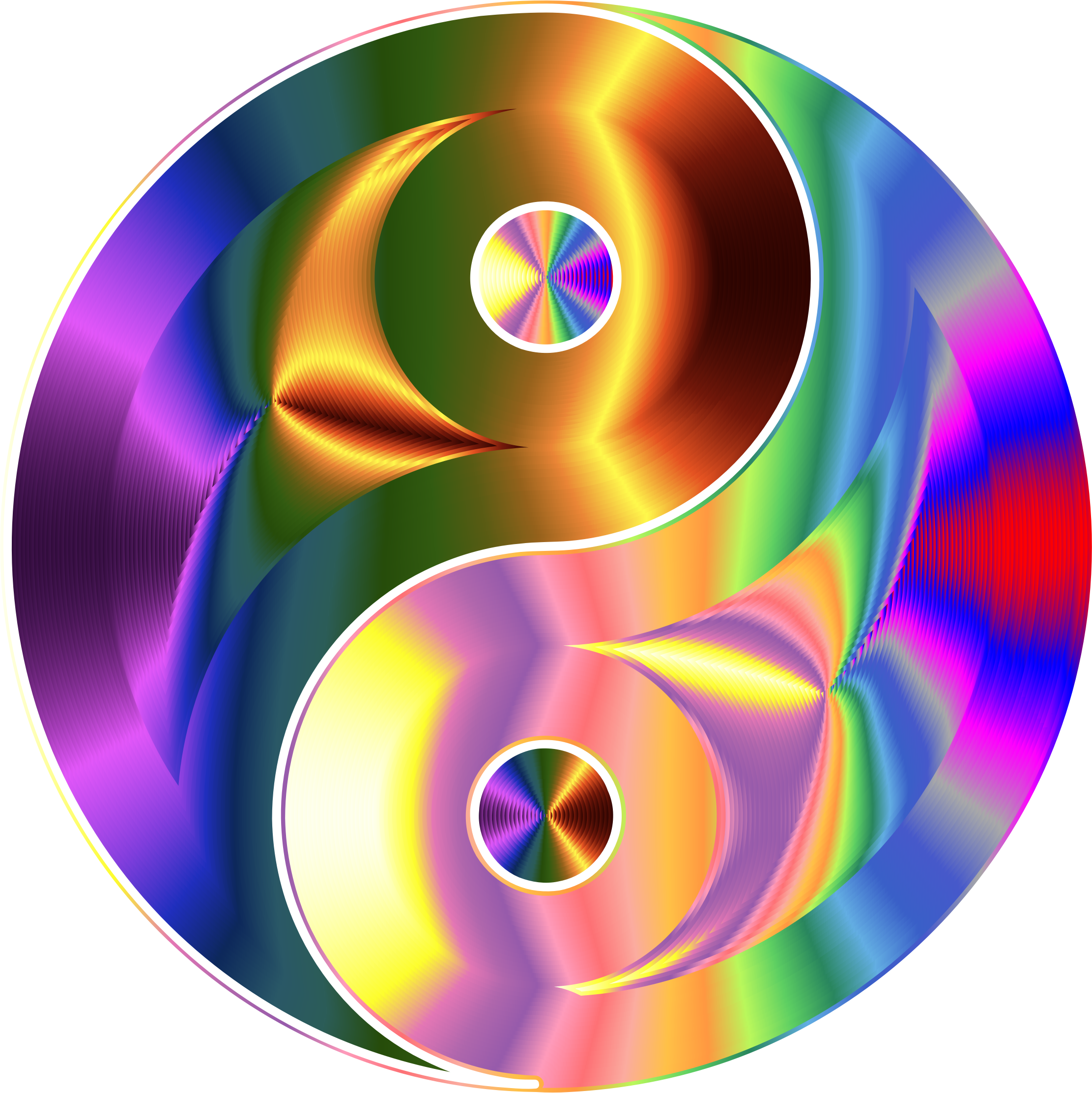 Prismatic And Chromatic Yin Yang by GDJ