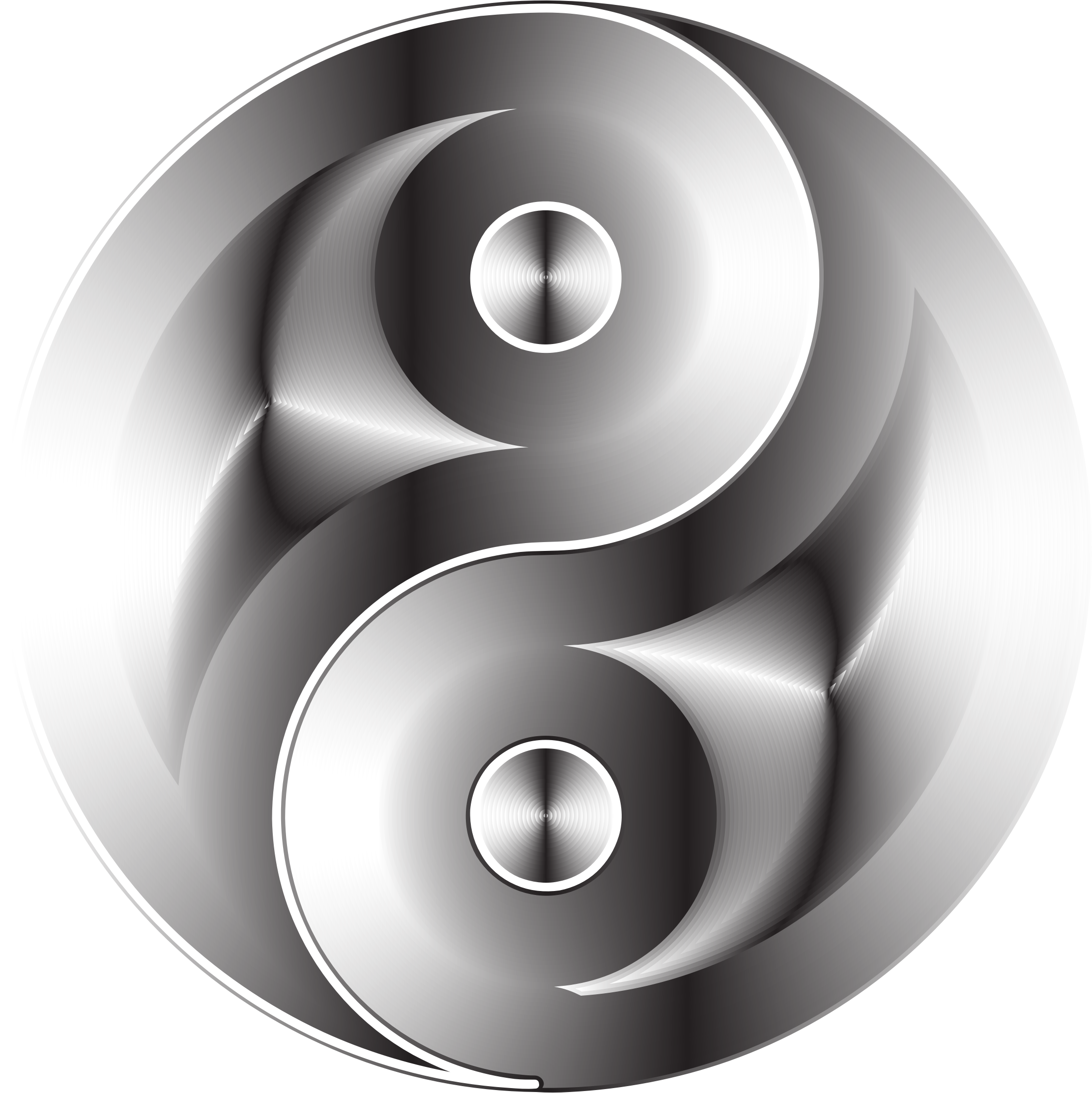 Black And White Yin Yang by GDJ