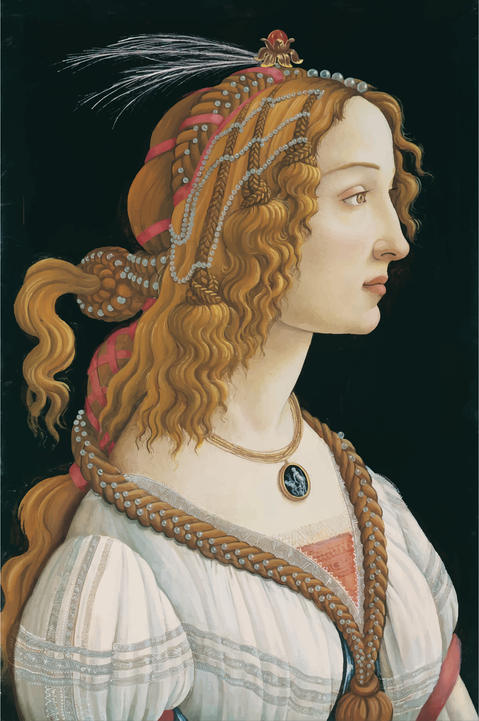 Idealized Portrait of a Lady Portrait of Simonetta Vespucci as Nymph by GDJ