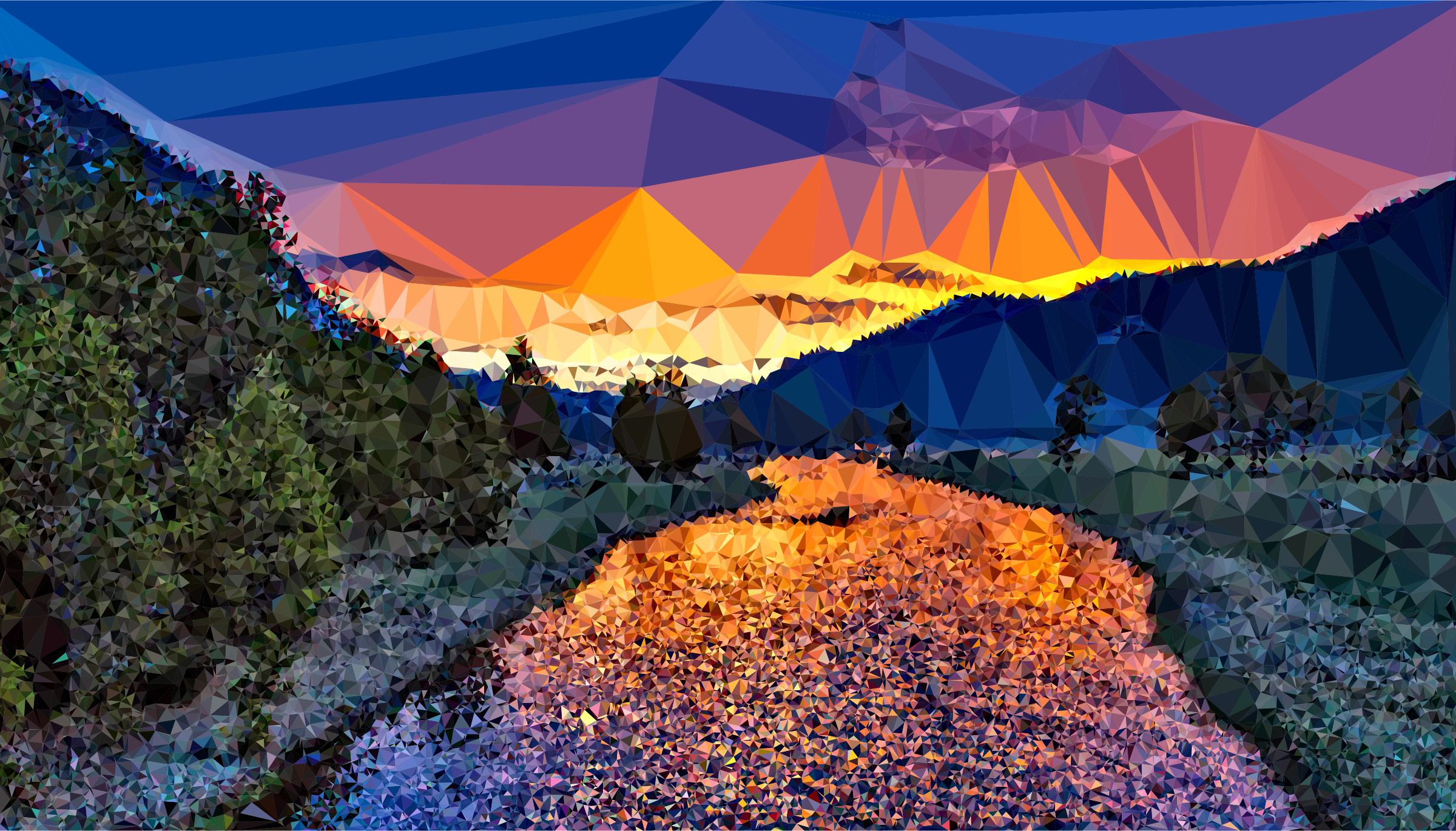 Clipart - Low Poly Yellowstone National Park