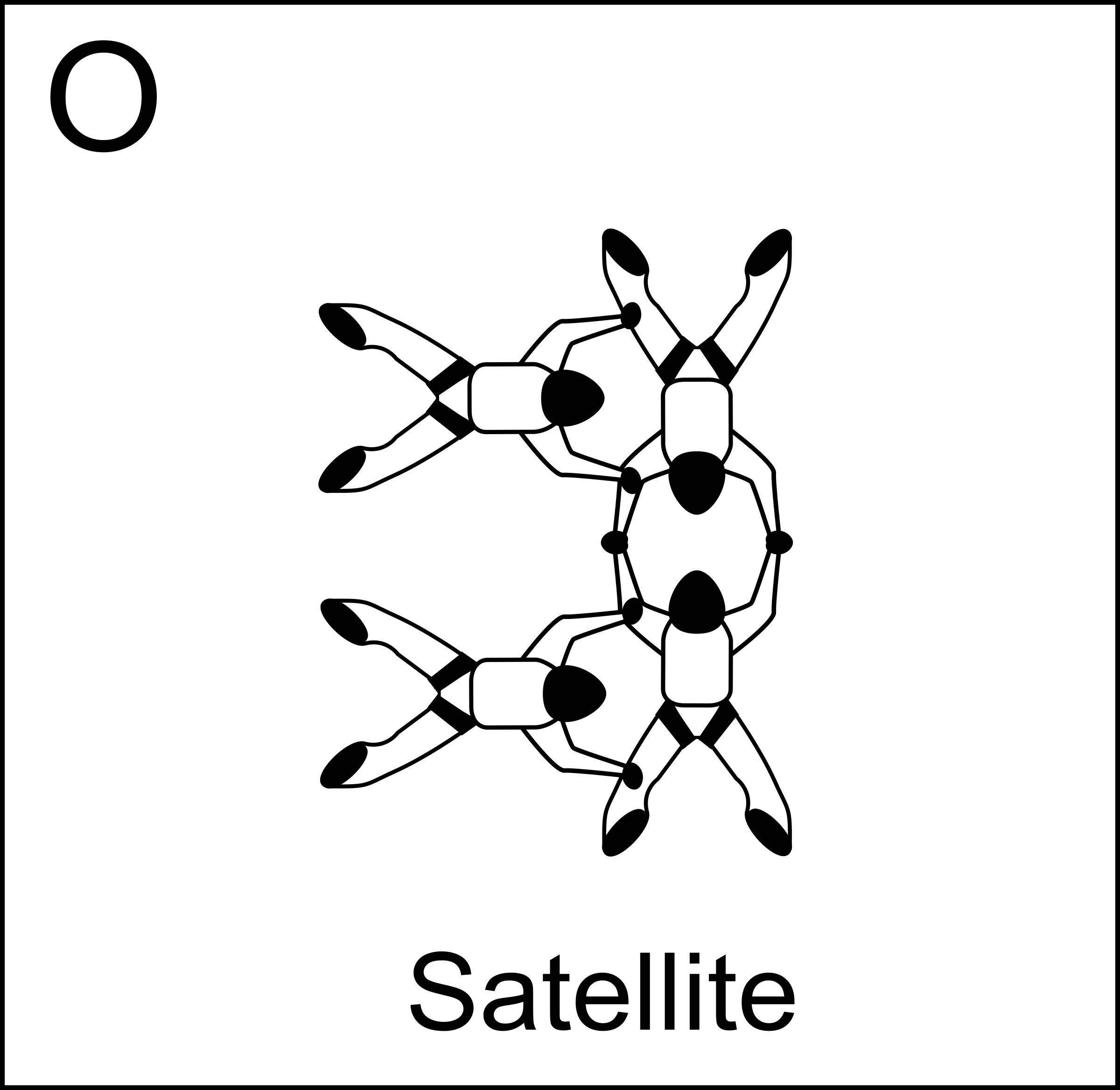 Figure O - Satellite, Vol relatif à 4, Formation Skydiving 4-Way by Fanfan