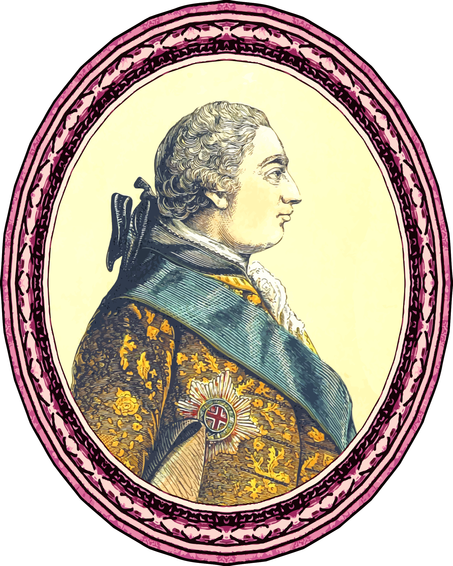 King George III (framed) by Firkin
