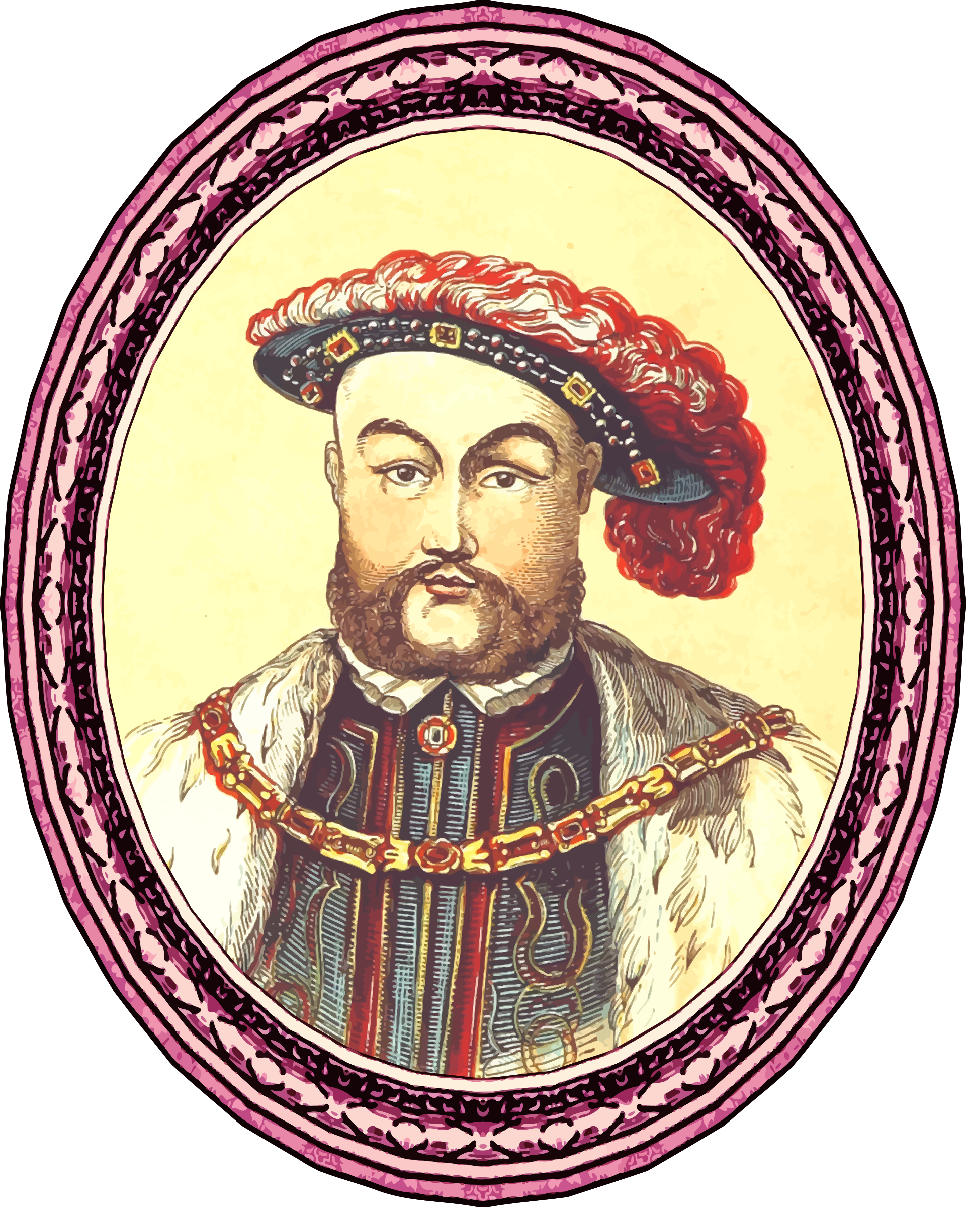 King Henry VIII (version 2, framed) by Firkin