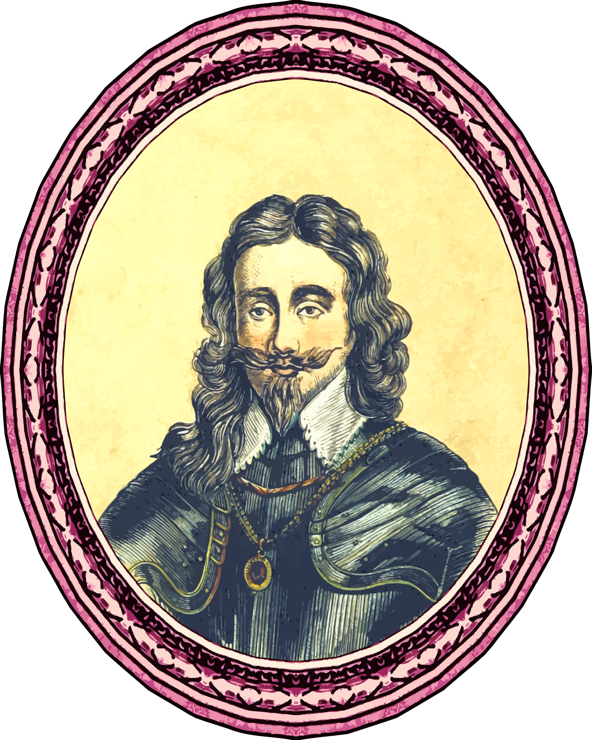 King Charles I (framed) by Firkin