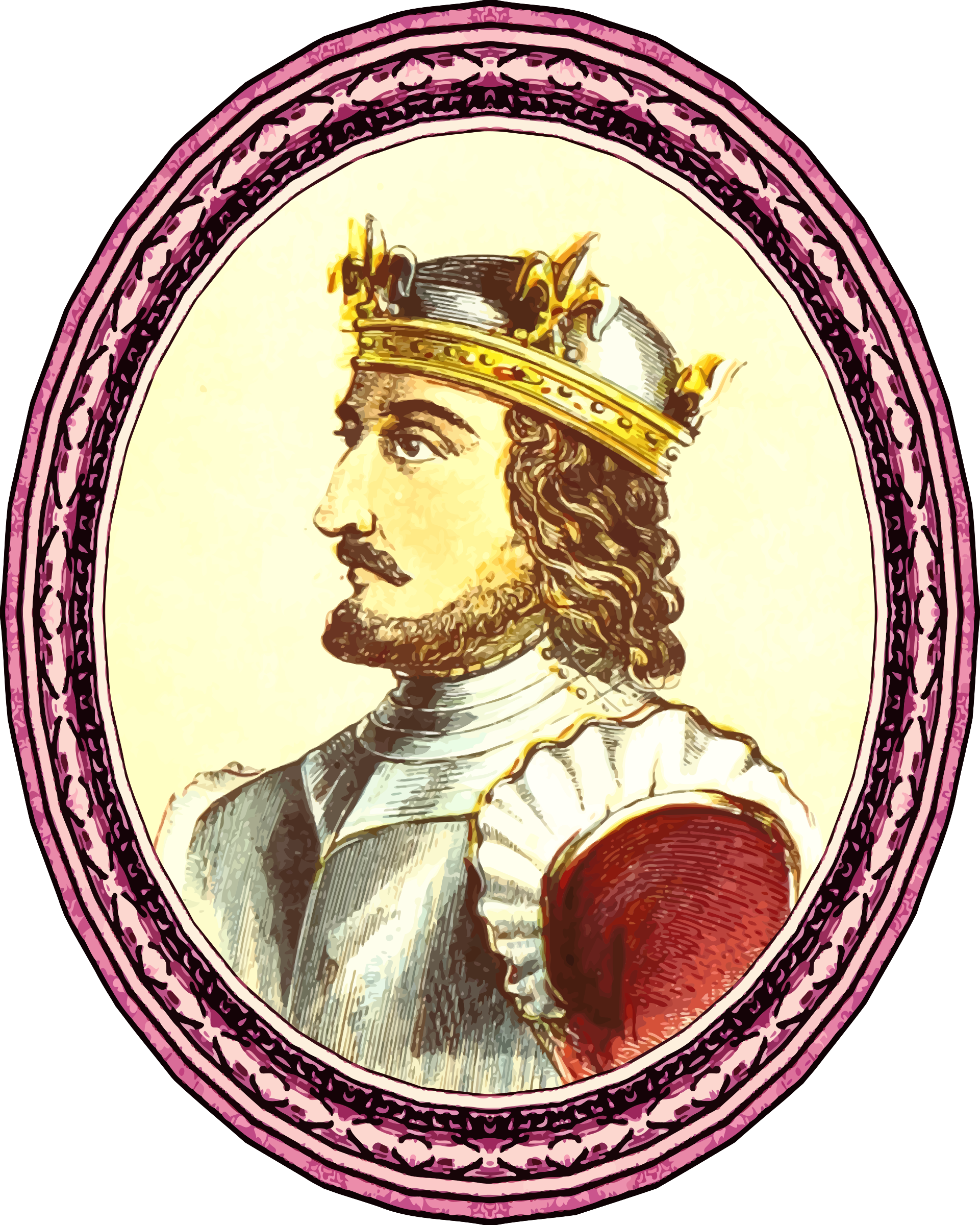 King Stephen (framed) by Firkin