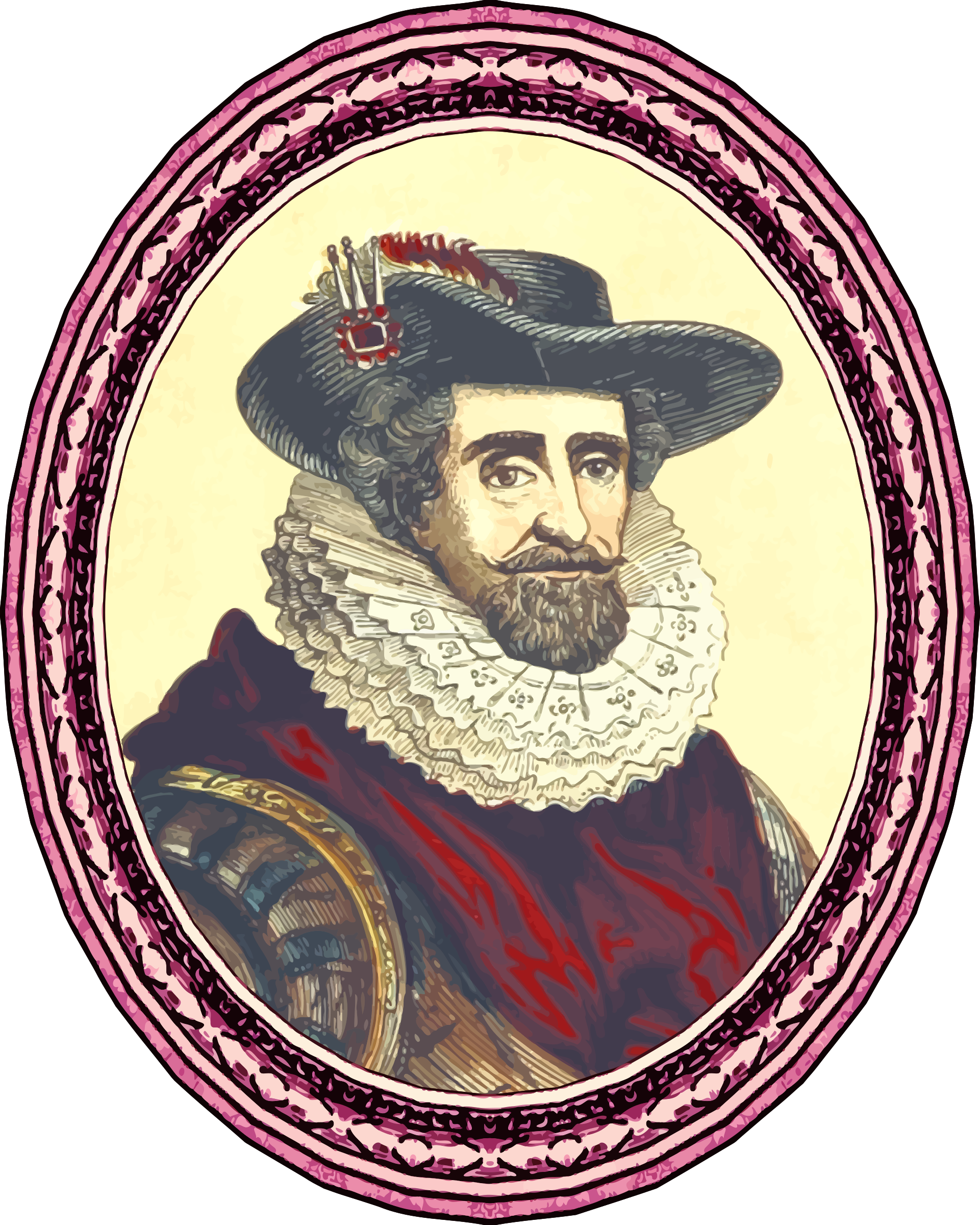King James I (framed) by Firkin