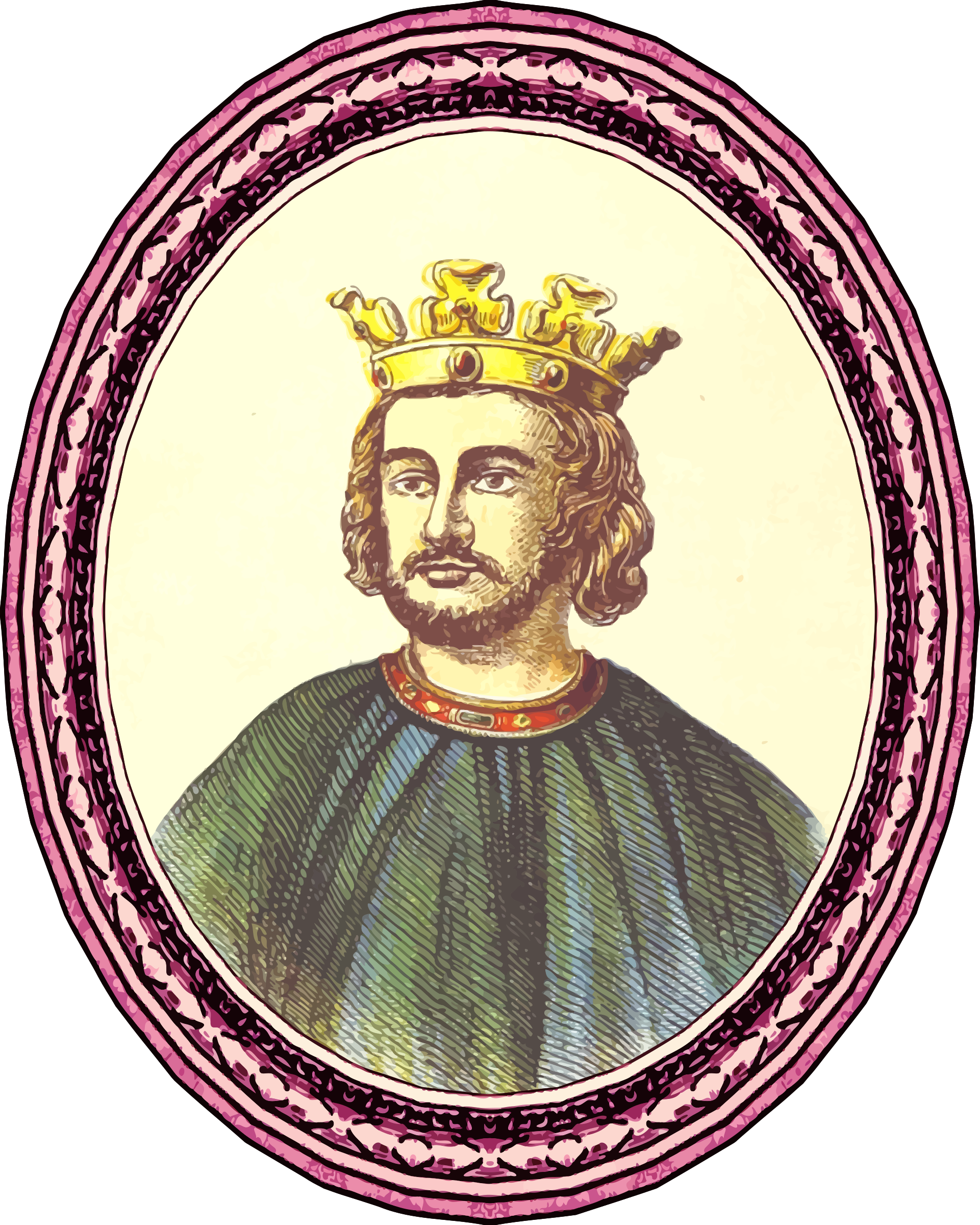 King John (framed) by Firkin