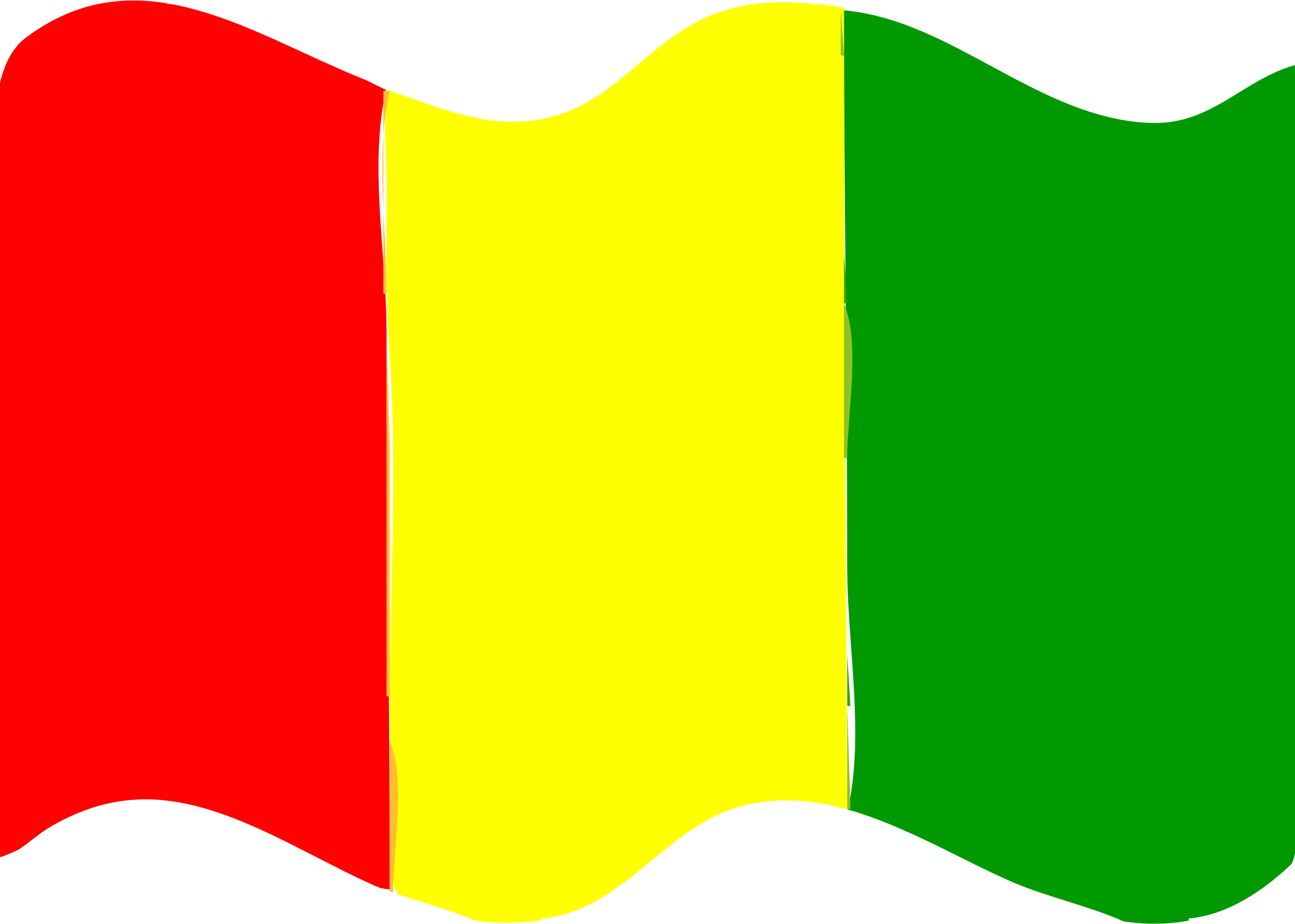 Flag of Guinea wave by Joesph