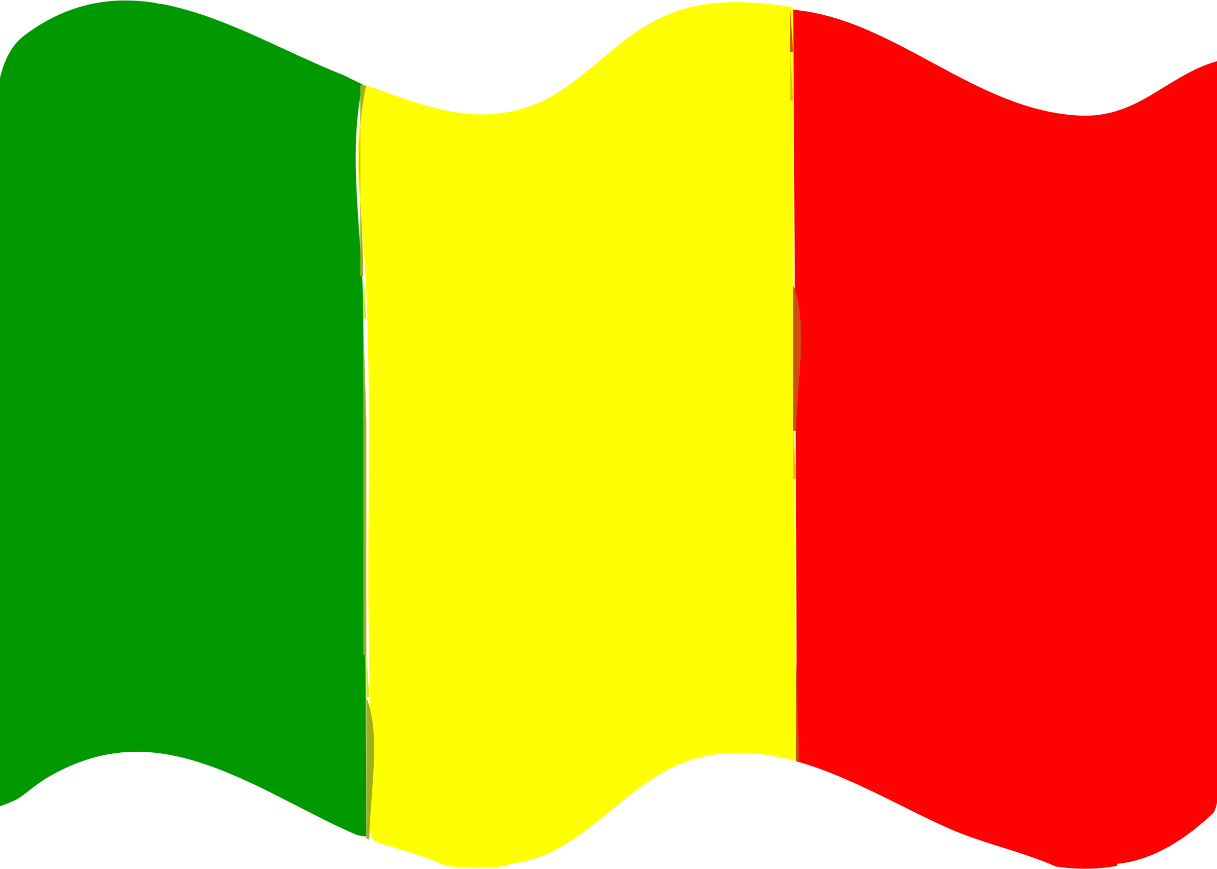 Flag of Mali wave by Joesph