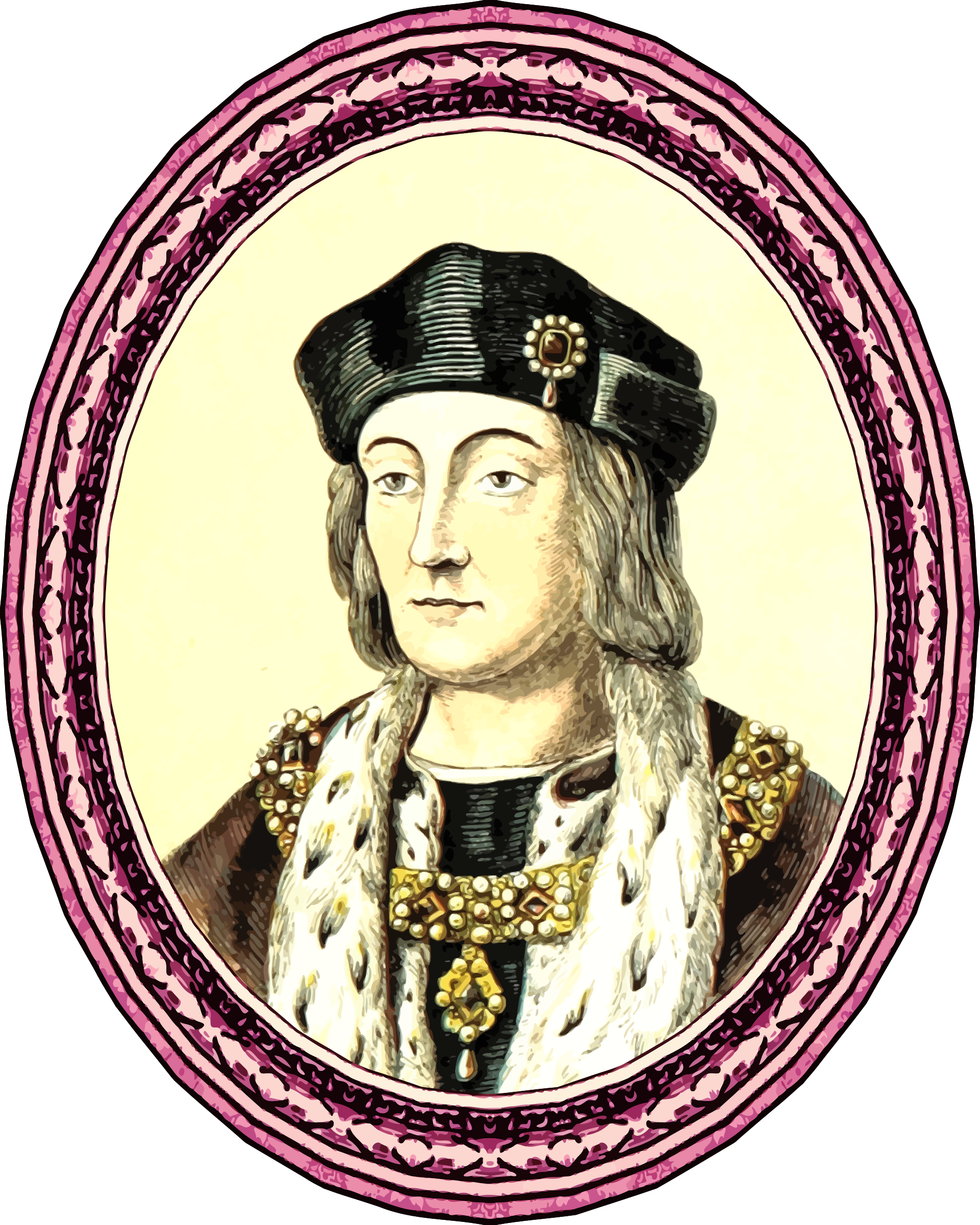 King Henry VII (framed) by Firkin