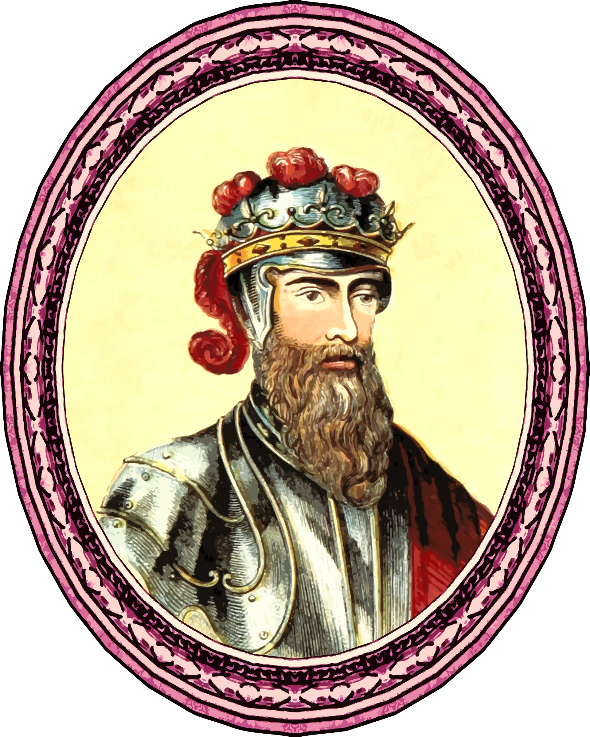King Edward III (framed) by Firkin
