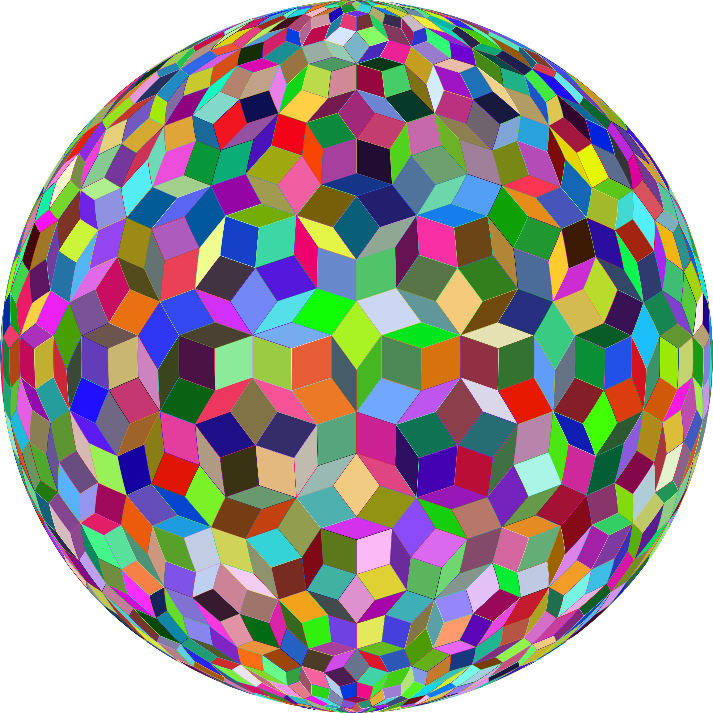 Prismatic Penrose Sphere by GDJ