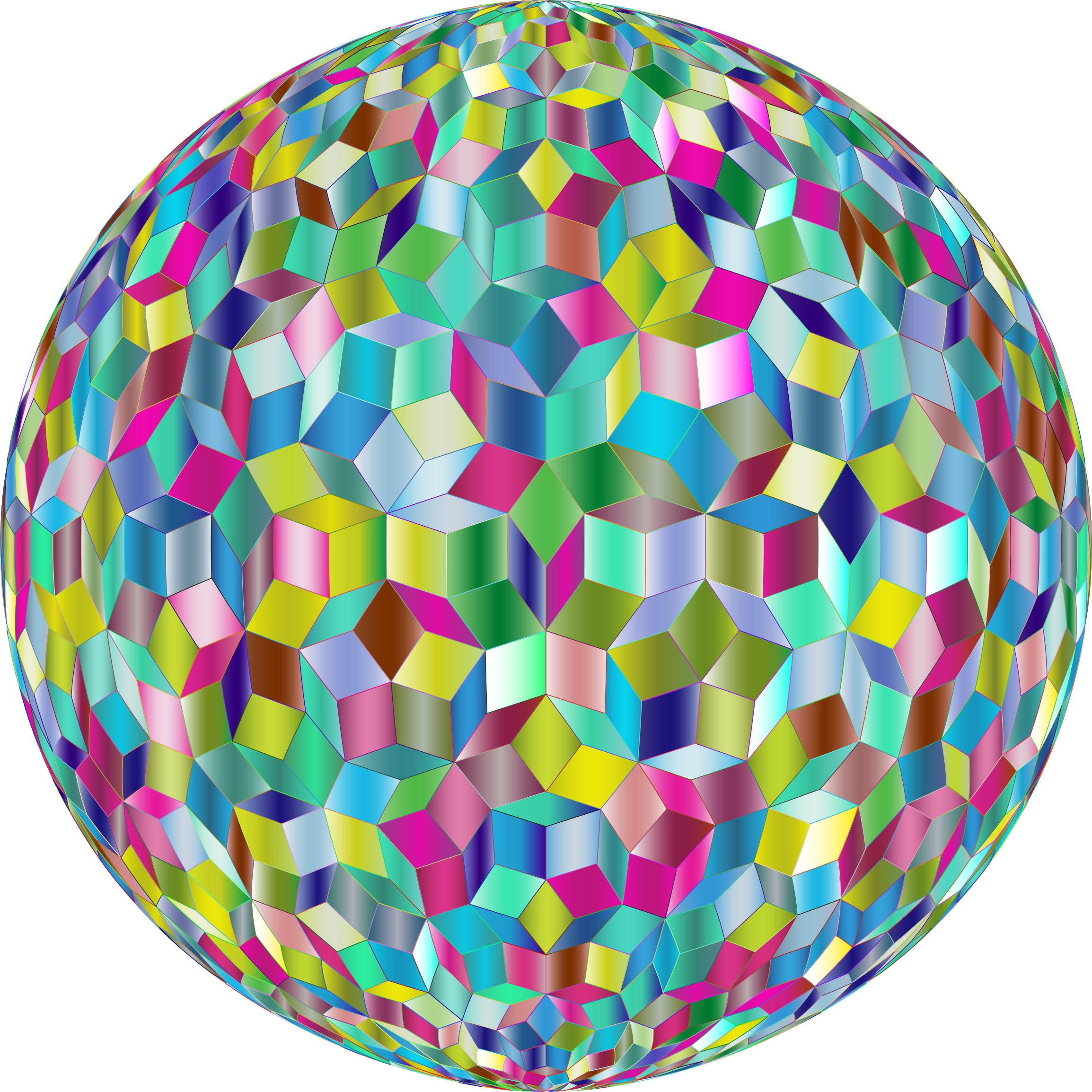 Prismatic Penrose Sphere Variation 2 by GDJ