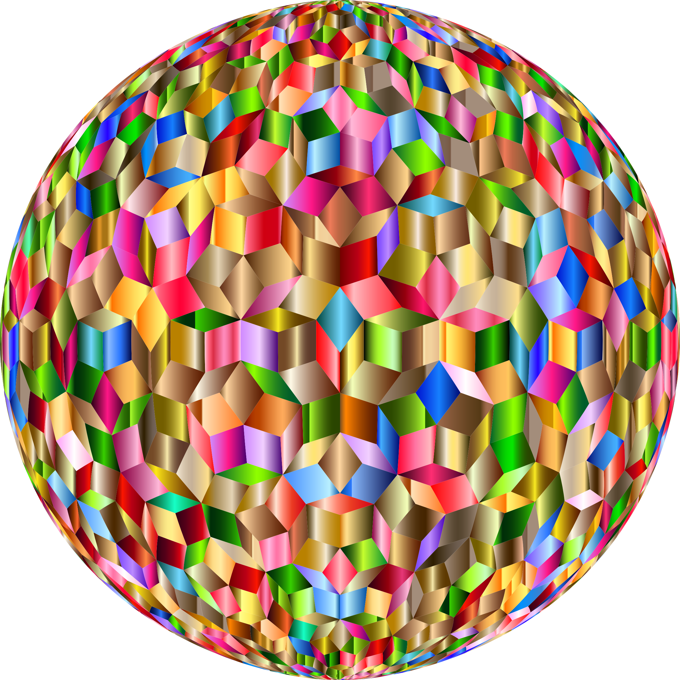 Prismatic Penrose Sphere Variation 7 by GDJ