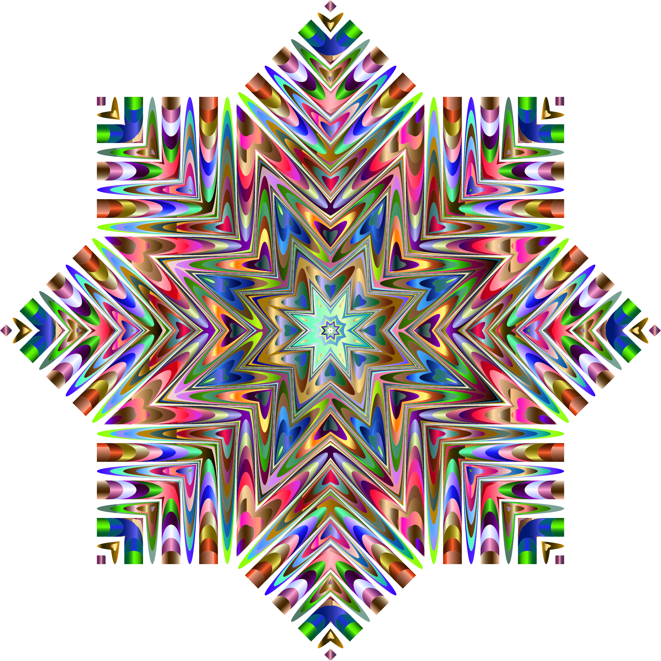 Chromatic Snowflake by GDJ