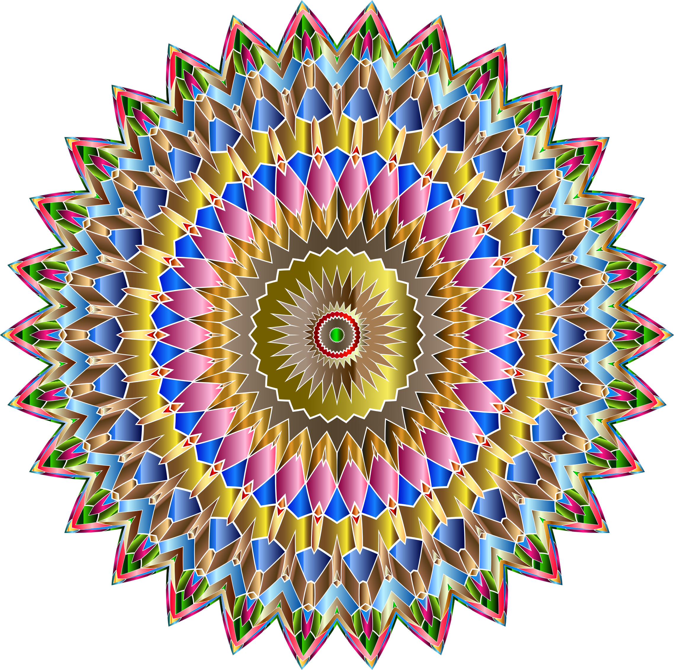 Chromatic Iridescent Mandala by GDJ