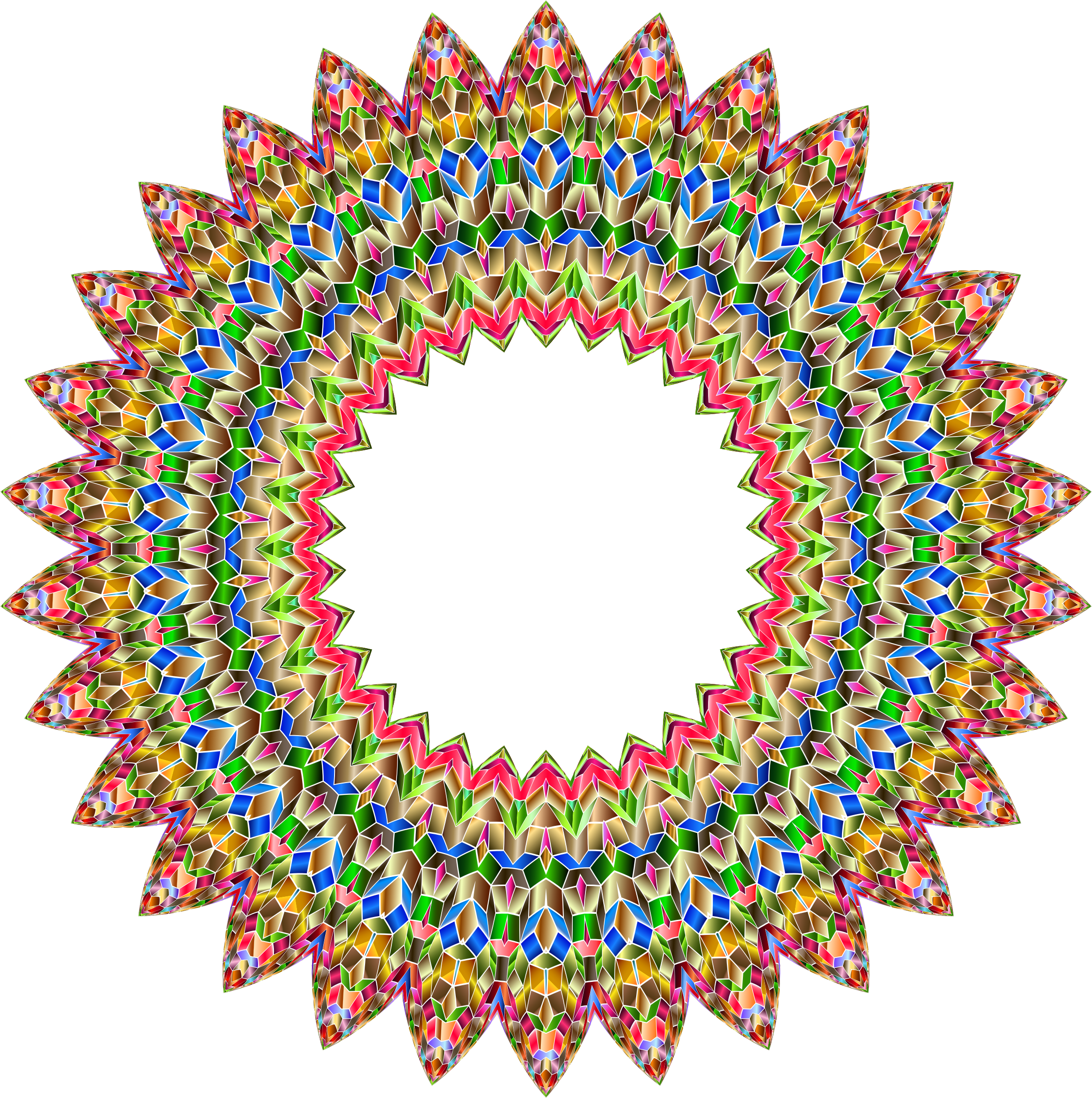 Chromatic Iridescent Mandala 2 by GDJ