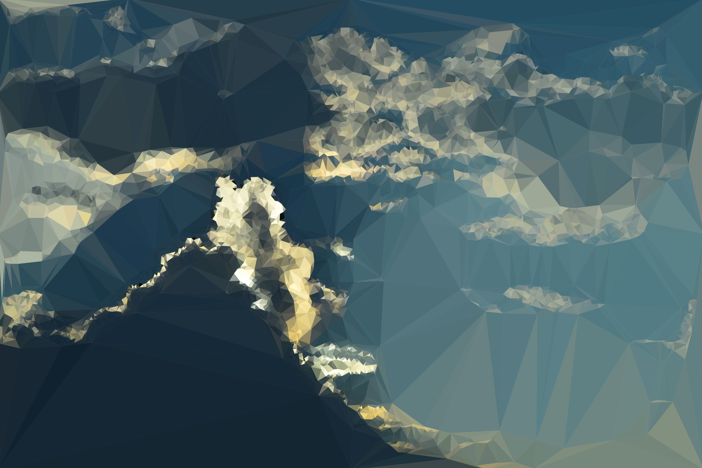Low Poly Tumultuous Sky by GDJ