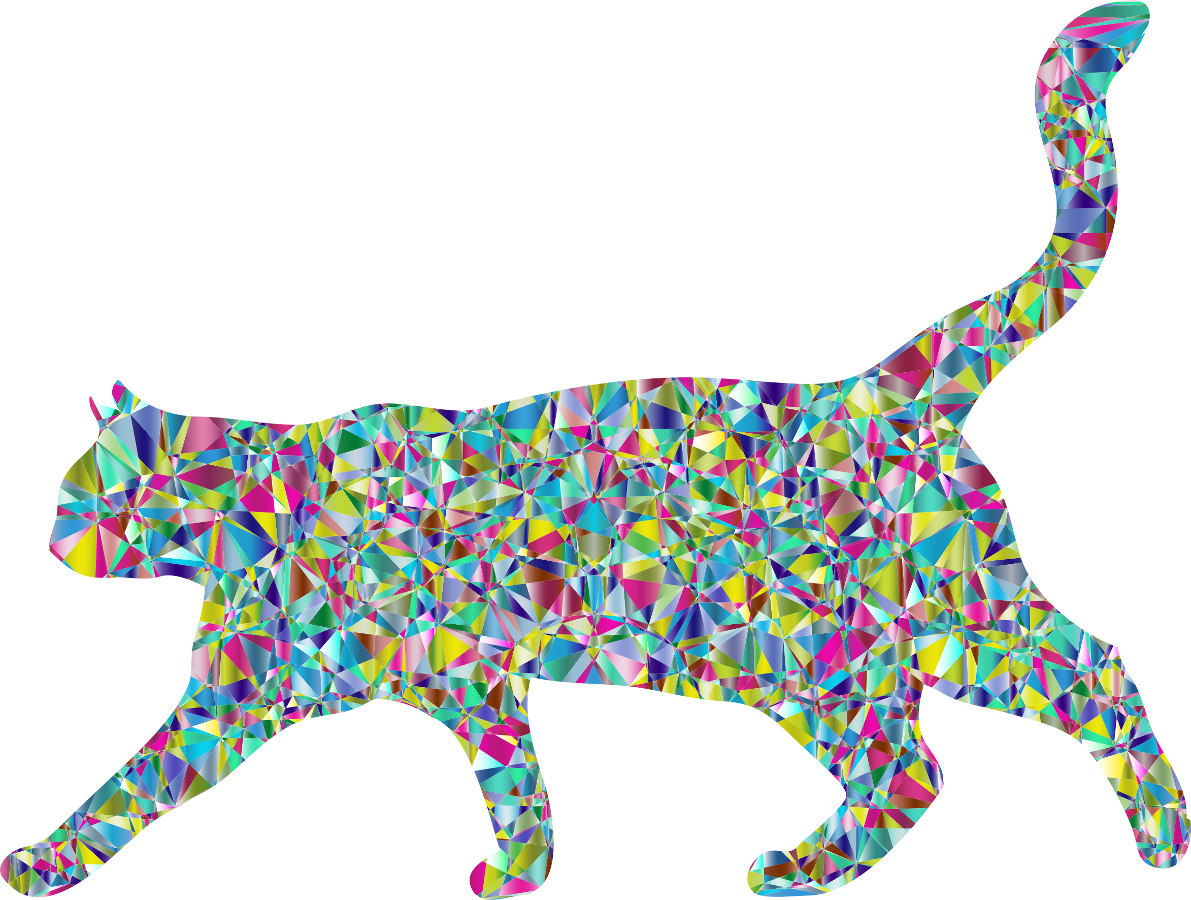 Chromatic Crystal Cat by GDJ