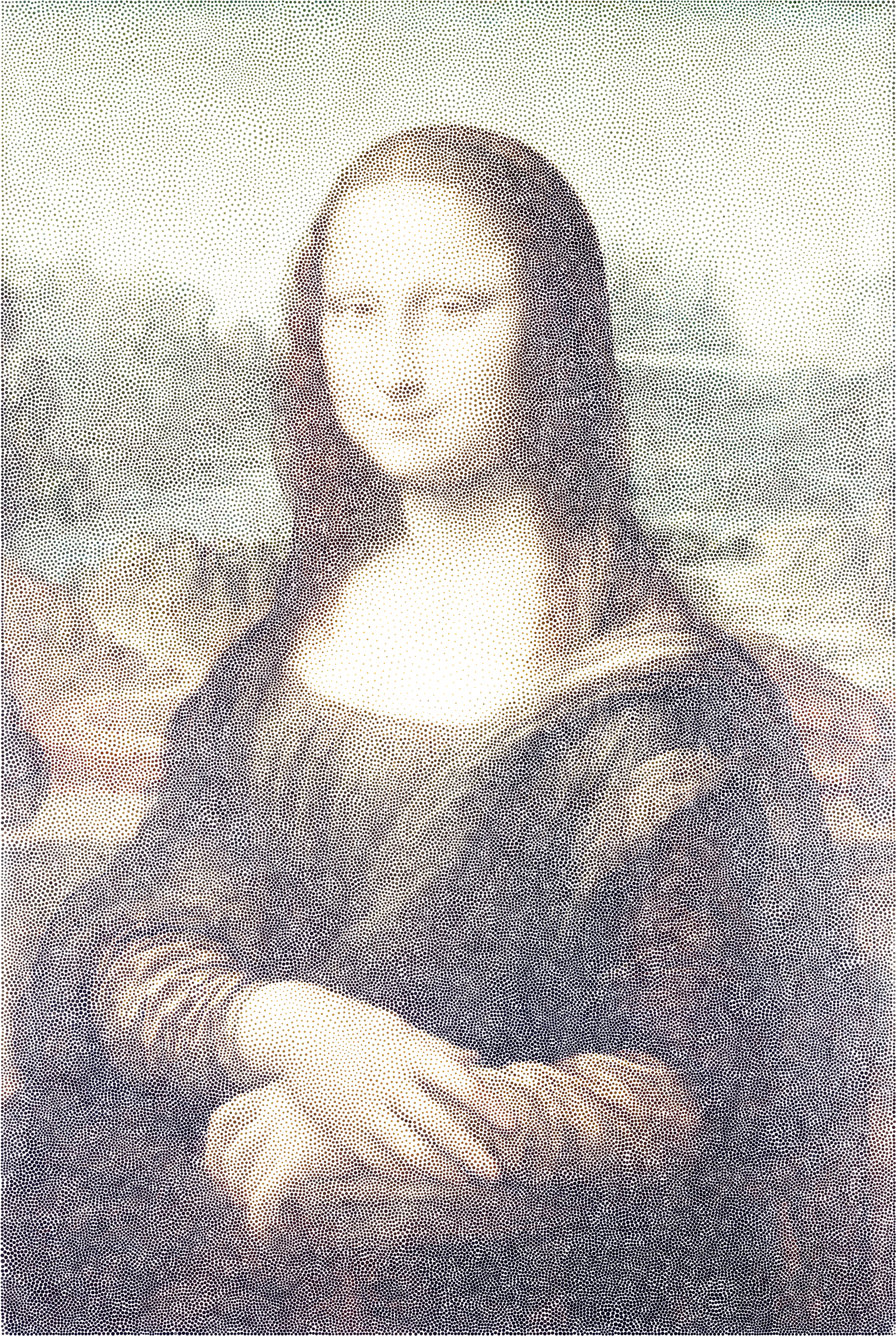 Mona Lisa Stippled by GDJ