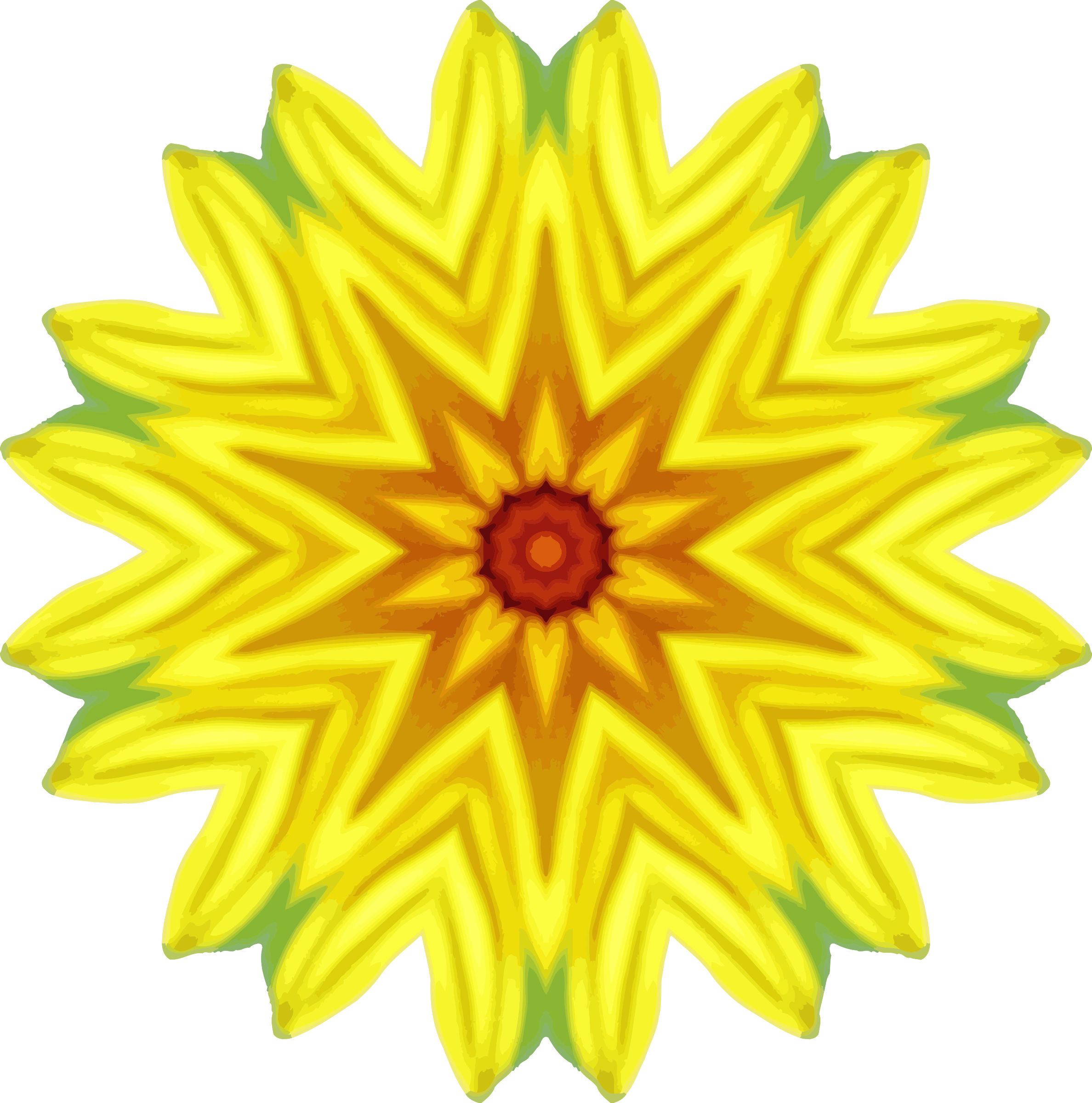 Sunflower kaleidoscope 13 by Firkin